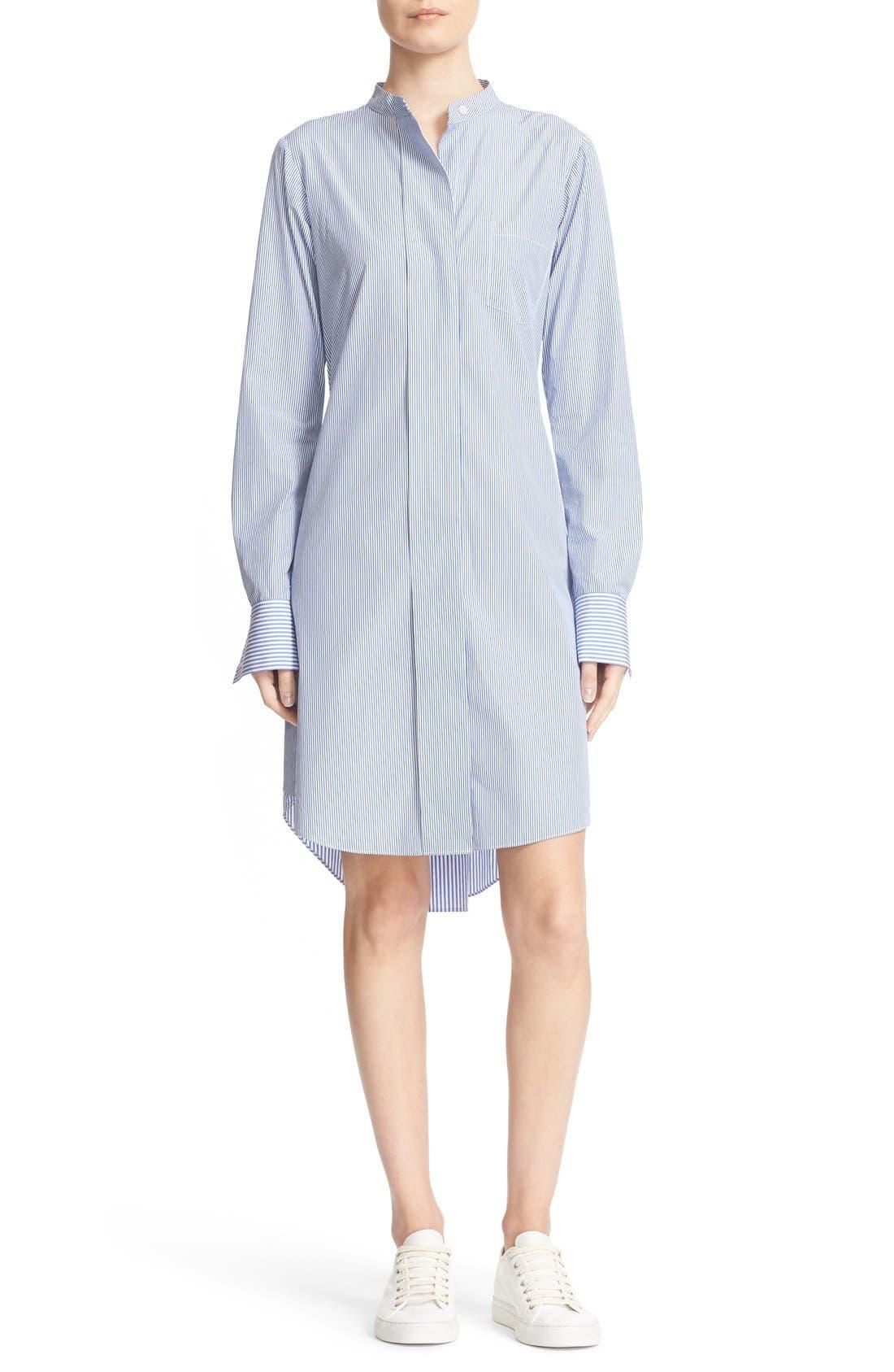 Alternate Image 1 Selected - Theory Jodalee Cotton Poplin Shirtdress