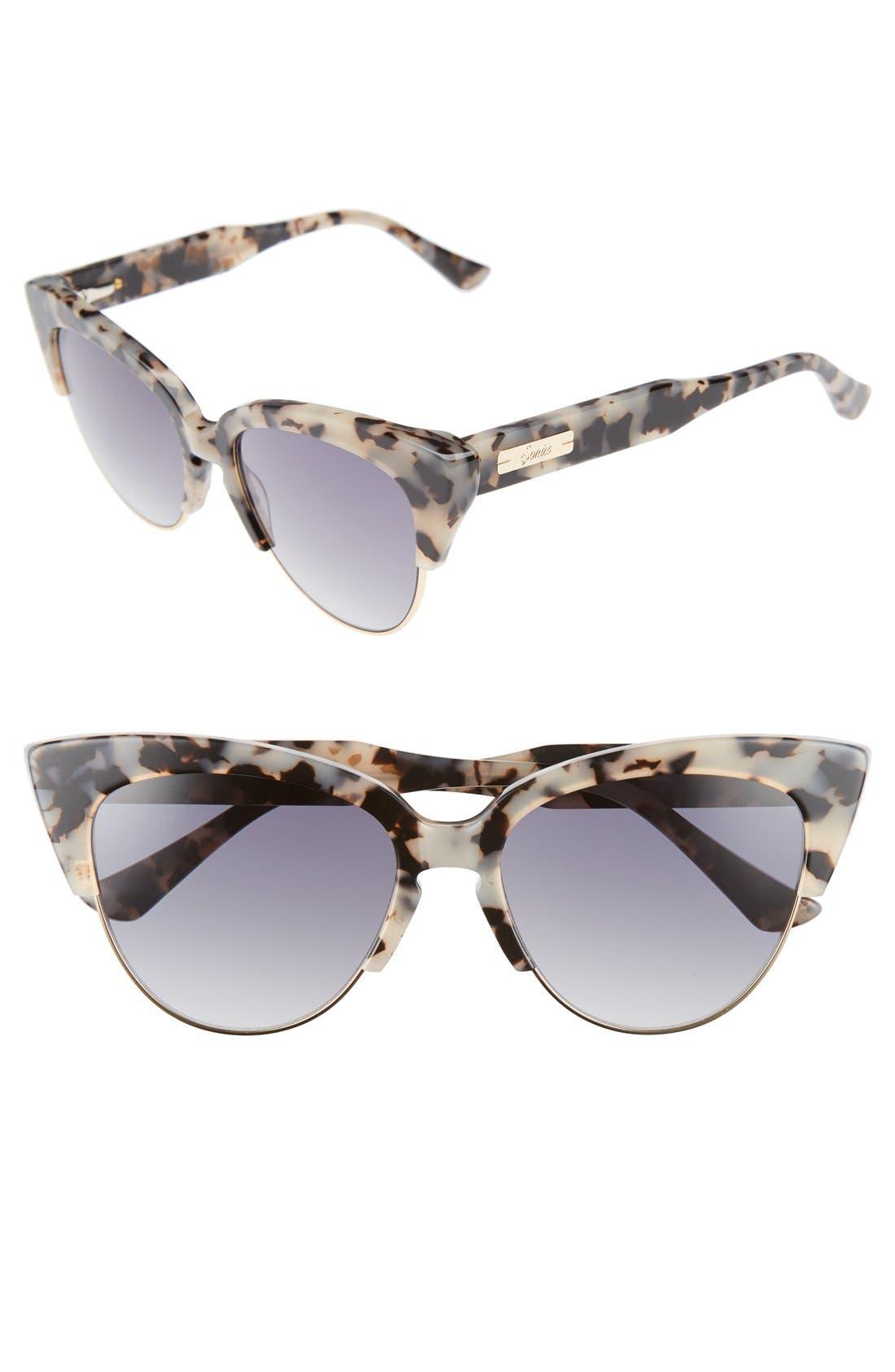 Sonix Dafni 56mm Gradient Cat Eye Sunglasses
