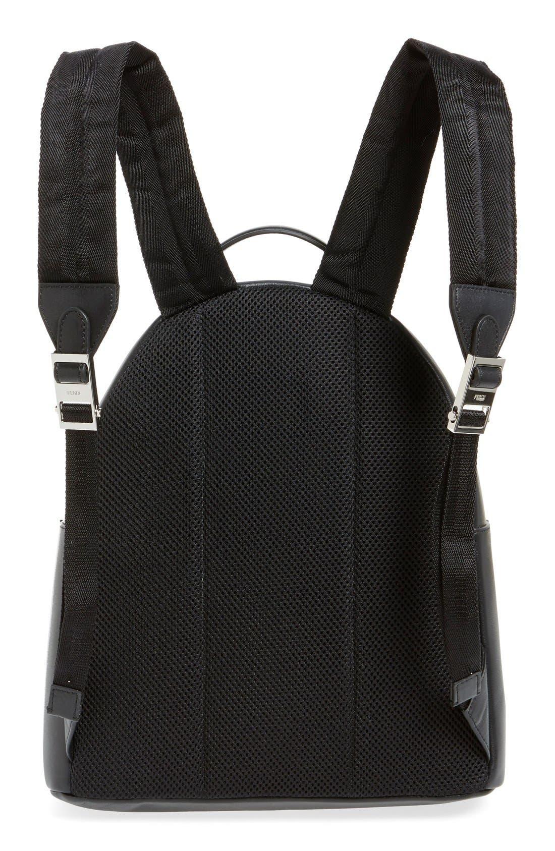 Alternate Image 3  - Fendi 'Monster' Leather Backpack with Genuine Fox Fur & Snakeskin Trim