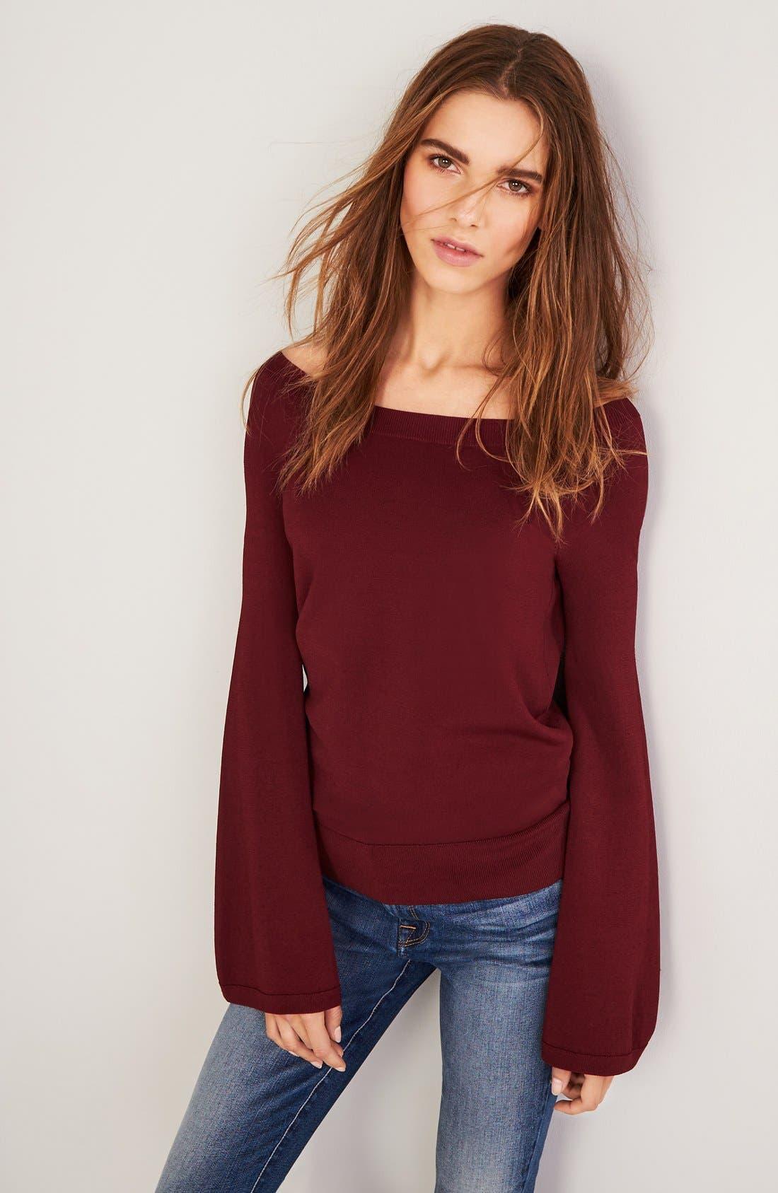 Alternate Image 2  - Chelsea28 Flare Sleeve Sweater