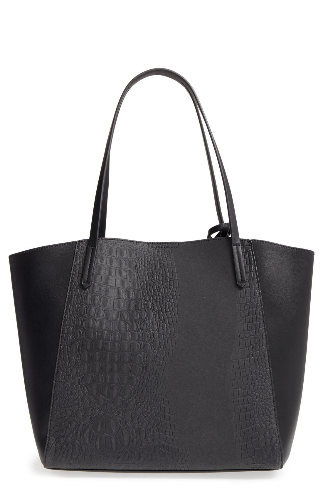 Alternate Image 1 Selected - BP. Embossed Faux Leather Tote