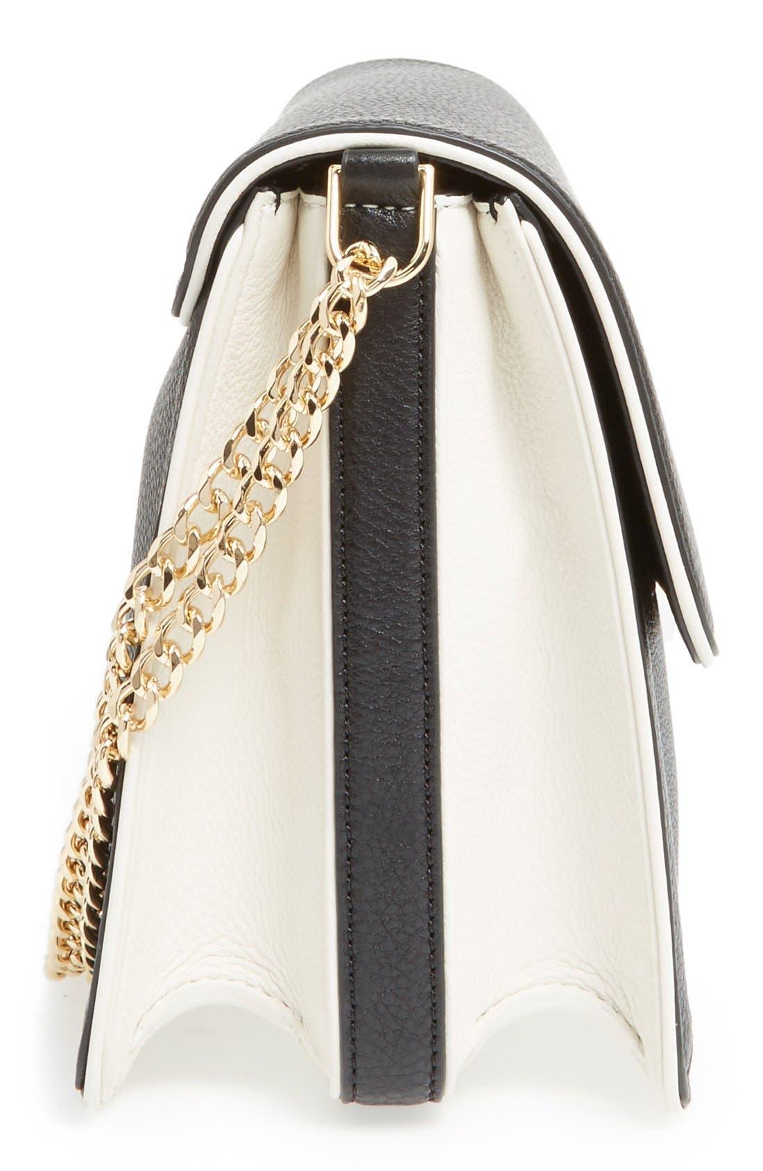 Alternate Image 5  - Tory Burch Large Duet Leather Shoulder Bag