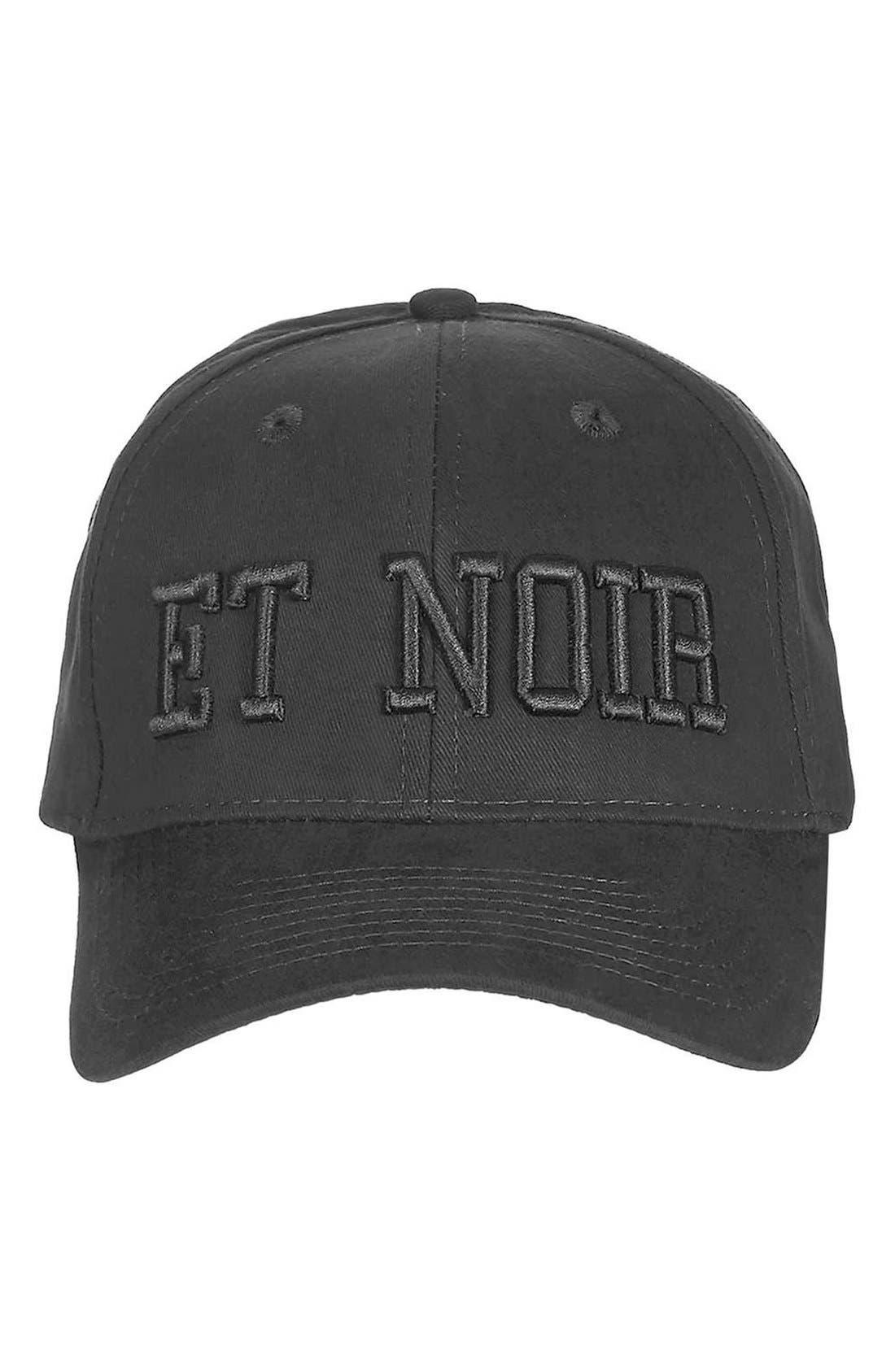 Alternate Image 2  - Topshop Et Noir Baseball Cap
