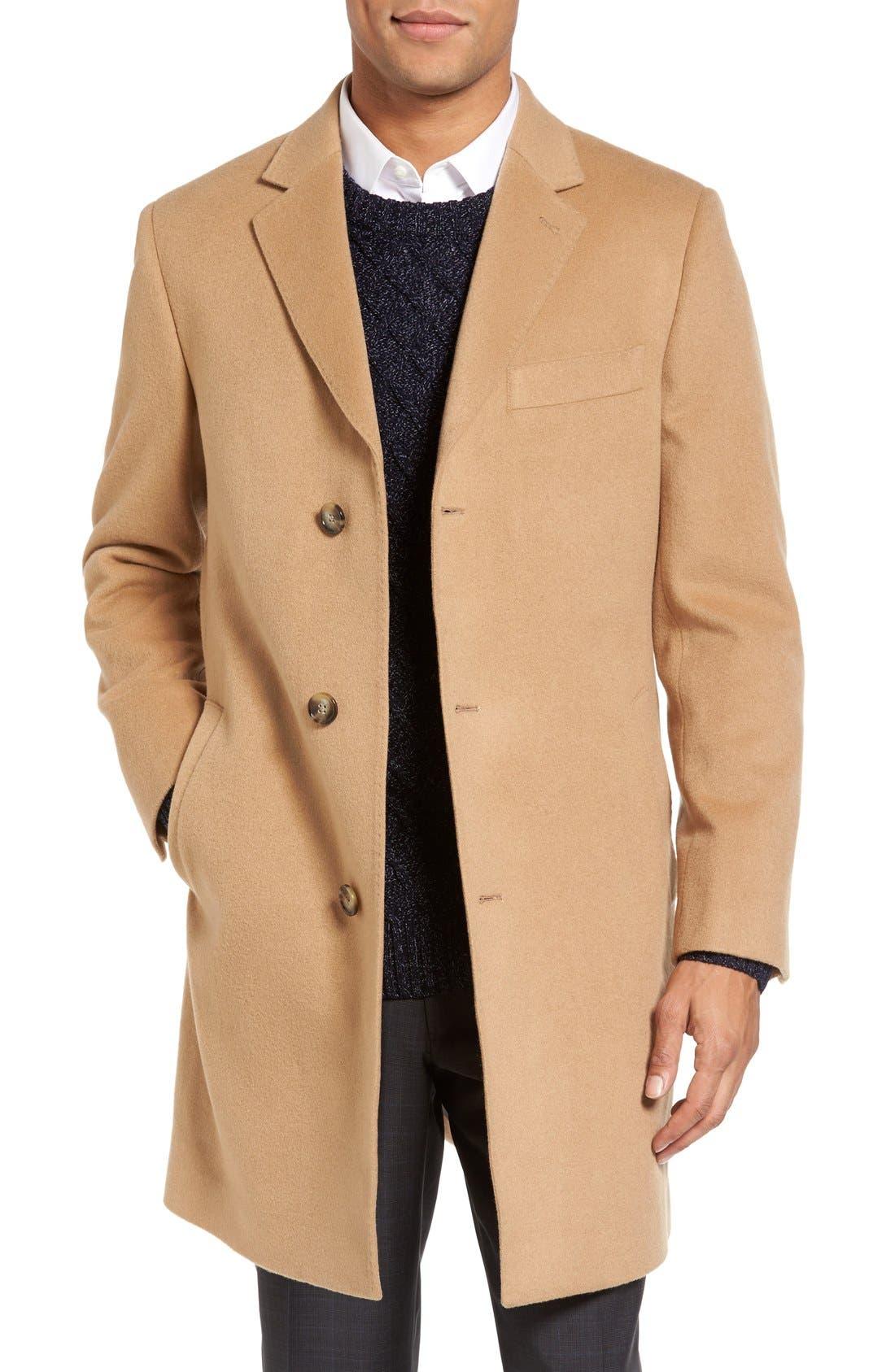 Main Image - Nordstrom Men's Shop Freemont Wool & Cashmere Overcoat