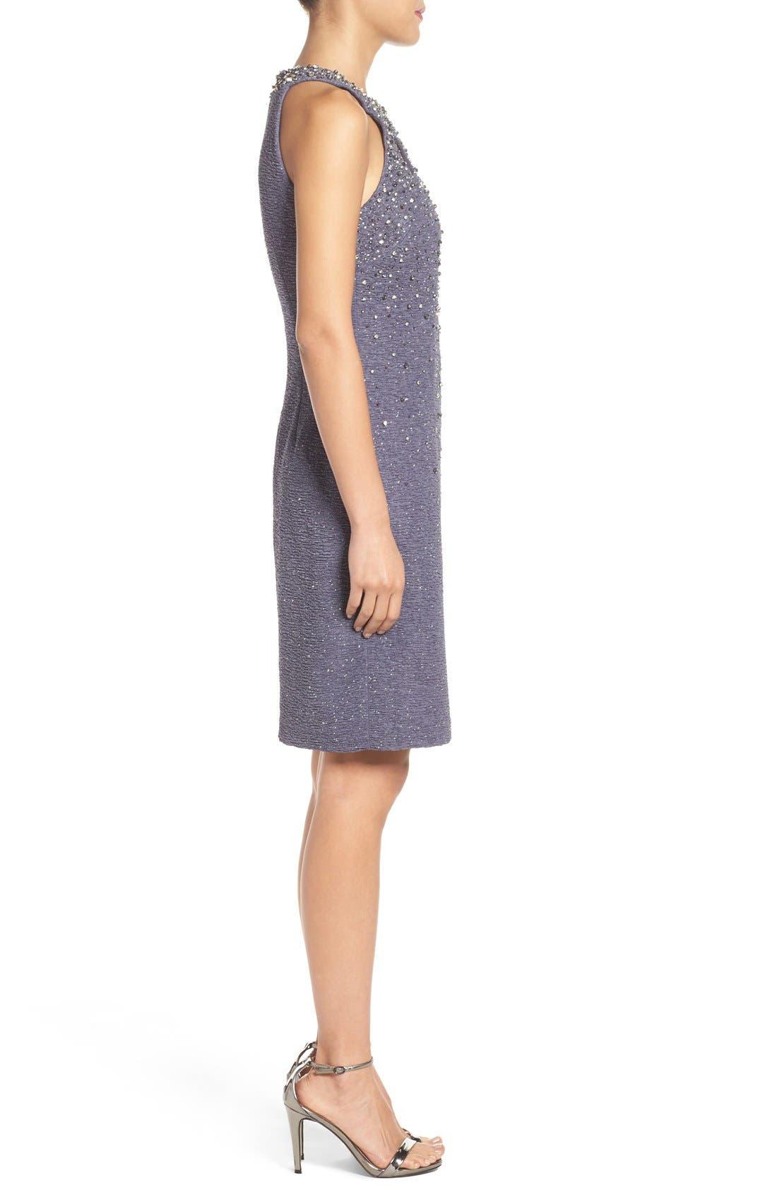 Alternate Image 4  - Eliza J Embellished Sheath Dress (Regular & Petite)