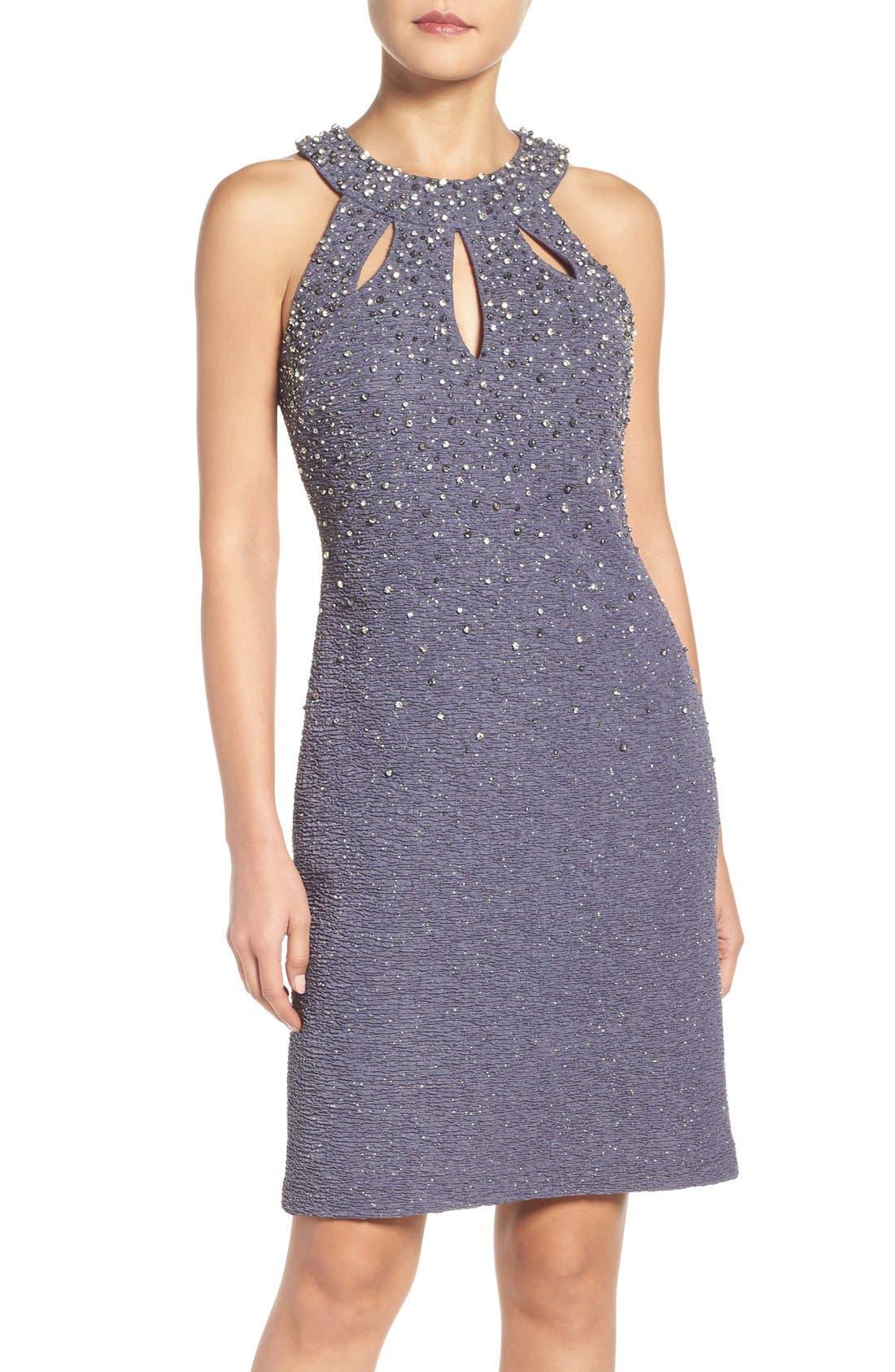 Main Image - Eliza J Embellished Sheath Dress (Regular & Petite)