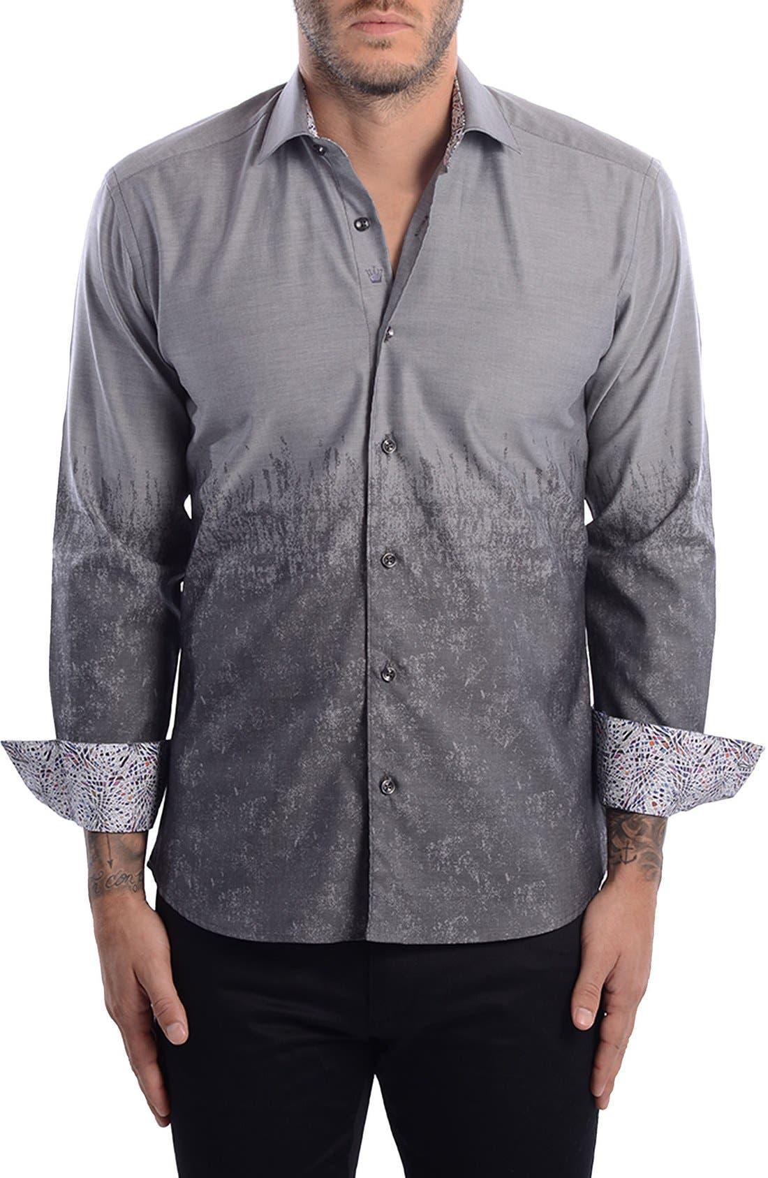 Bertigo Abstract Modern Fit Sport Shirt