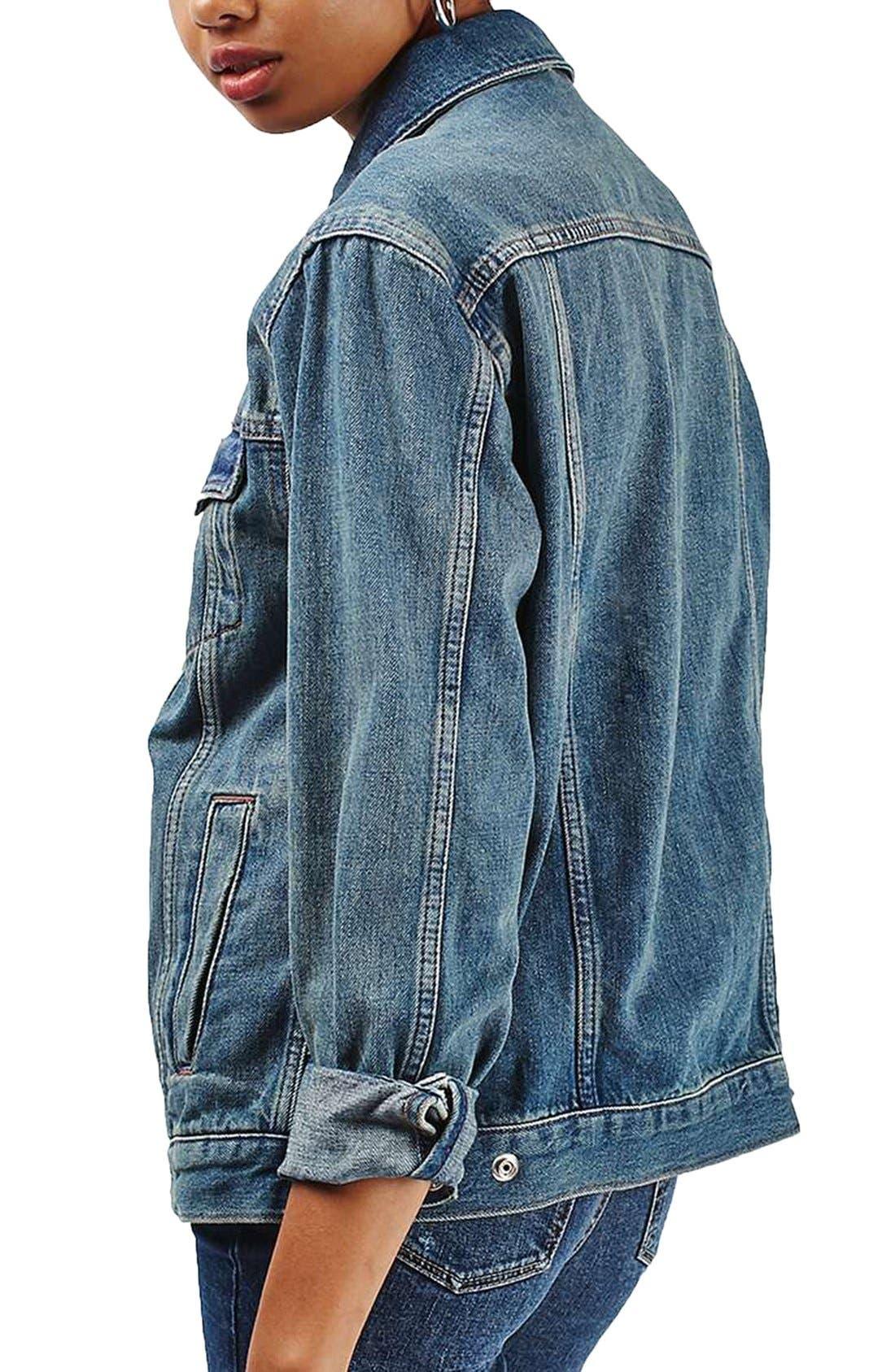 Alternate Image 3  - Topshop Moto Western Denim Jacket