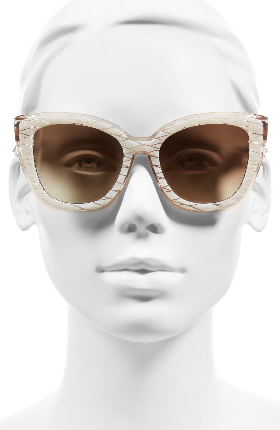 Alternate Image 4  - Sonix Lafayette 53mm Gradient Cat Eye Sunglasses