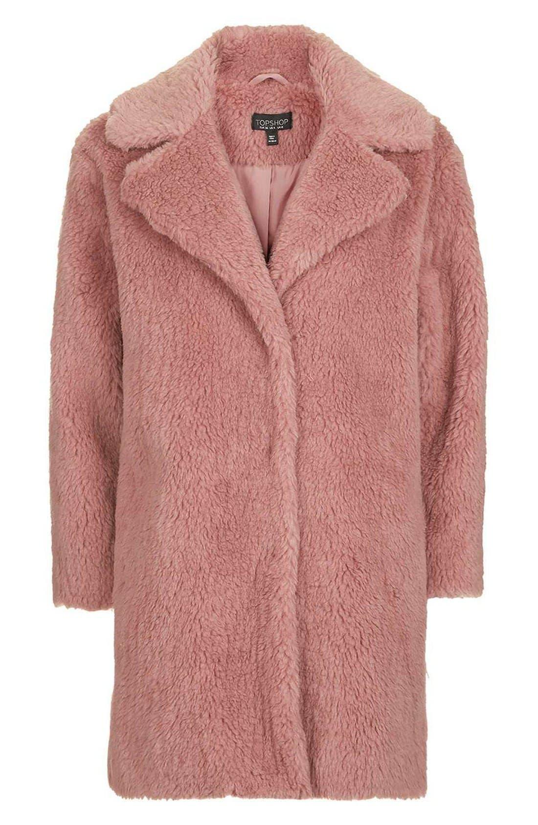 Alternate Image 5  - Topshop Faux Fur Coat