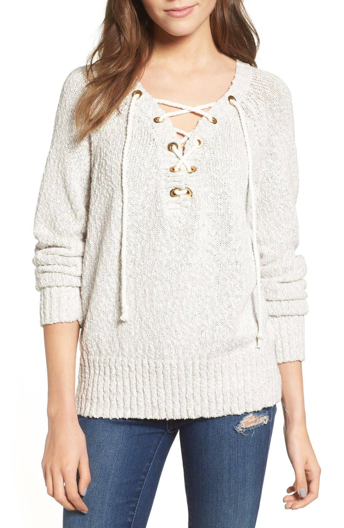Alternate Image 1 Selected - Lovers + Friends Yacht Sweater