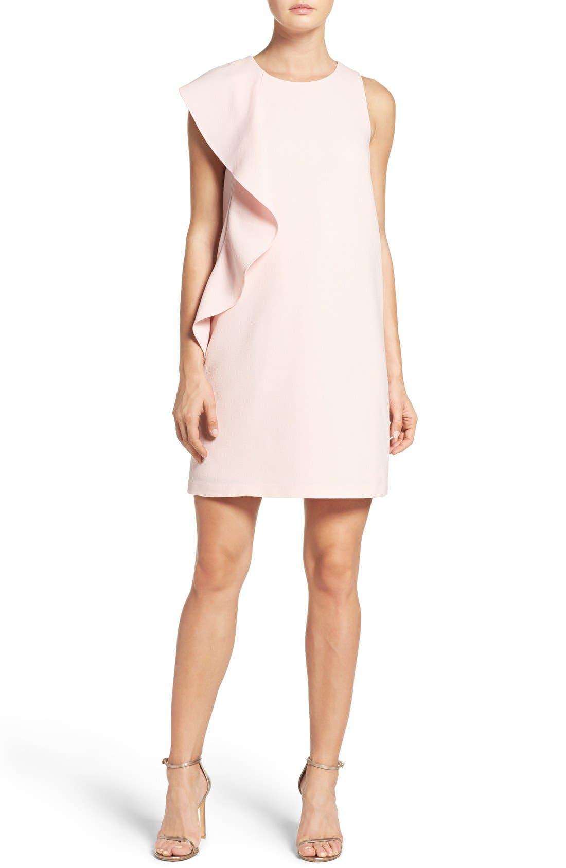 Alternate Image 4  - Chelsea28 Asymmetrical Ruffle Shift Dress