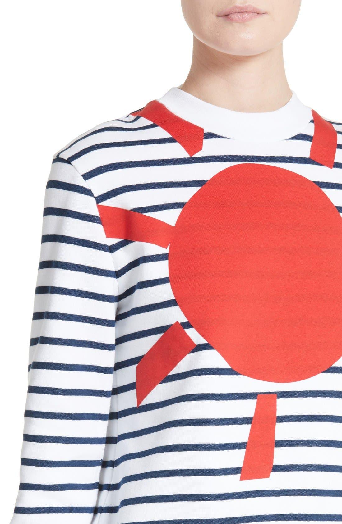 Alternate Image 4  - être cécile Sunny Side Up Stripe Graphic Sweatshirt