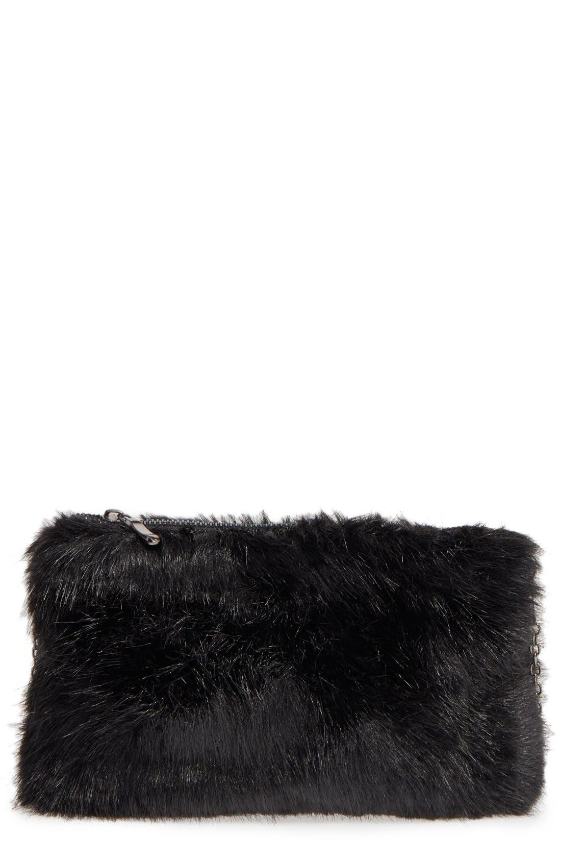 Main Image - BP. Faux Fur Clutch