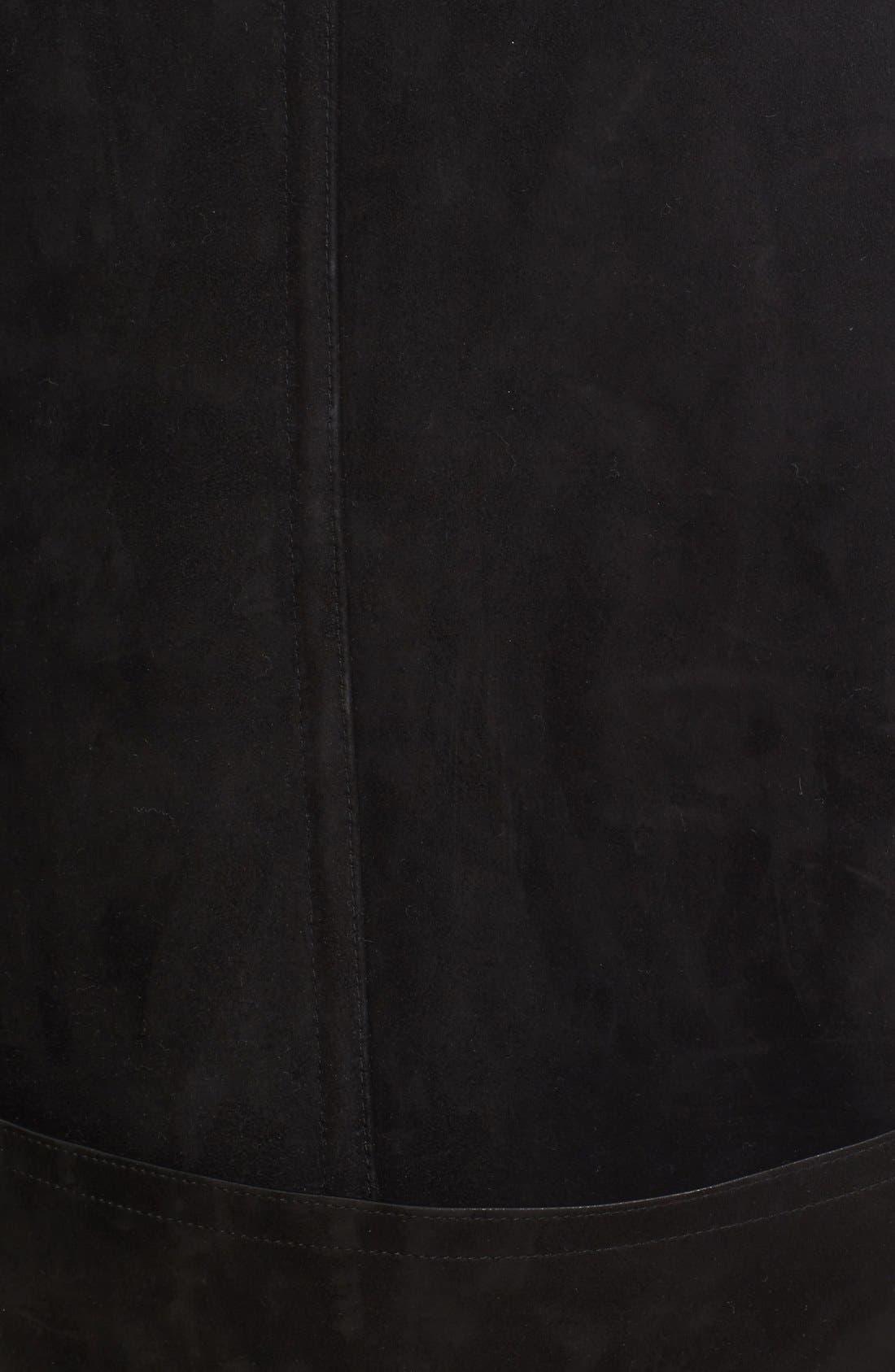 Alternate Image 3  - Burberry Norhurst Suede Coat with Genuine Shearling Trim