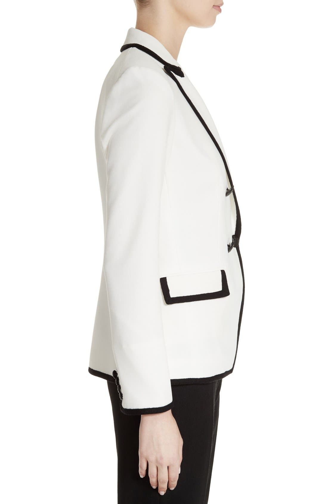 Alternate Image 3  - Veronica Beard Harriet Contrast Cutaway Blazer