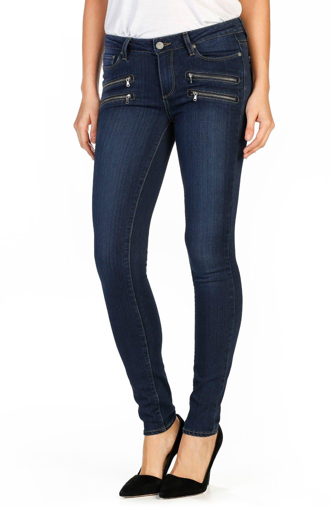 PAIGE Transcend - Edgemont Ultra Skinny Jeans (Alden No Whiskers)