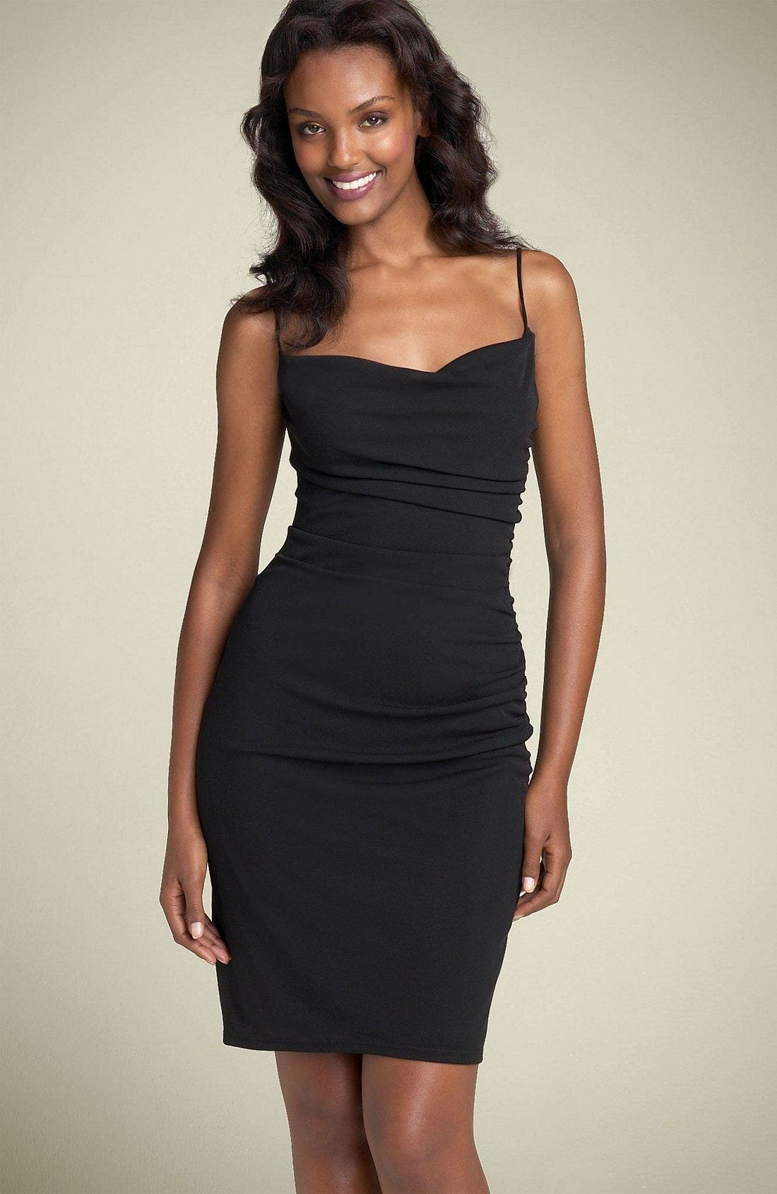 Main Image - David Meister Ruched Jersey Slipdress