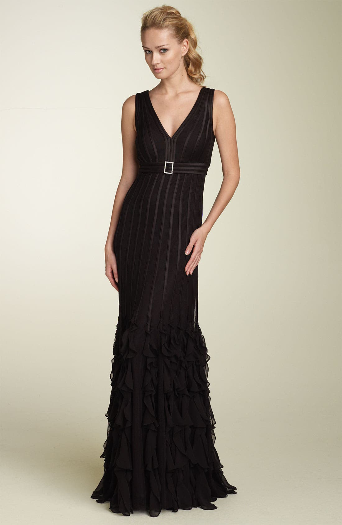 Alternate Image 1 Selected - JS Collections Satin Stripe Gown