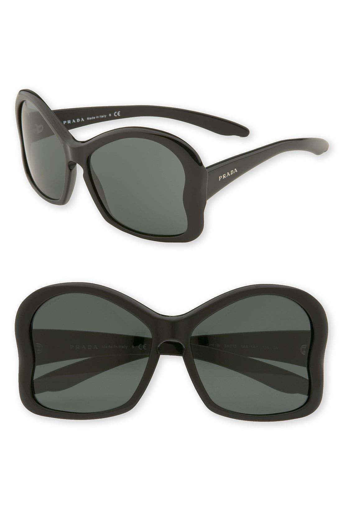 Main Image - Prada Large Butterfly Frame Sunglasses