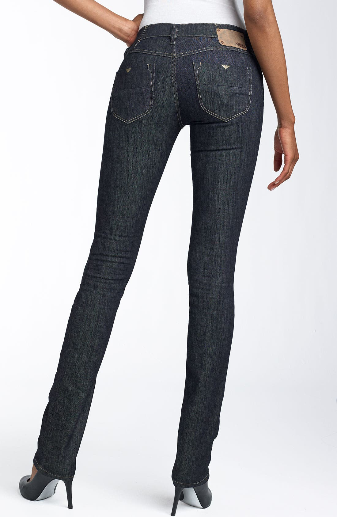 DIESEL® 'Livy' Super Skinny Stretch Jeans (Dark Blue Wash) | Nordstrom