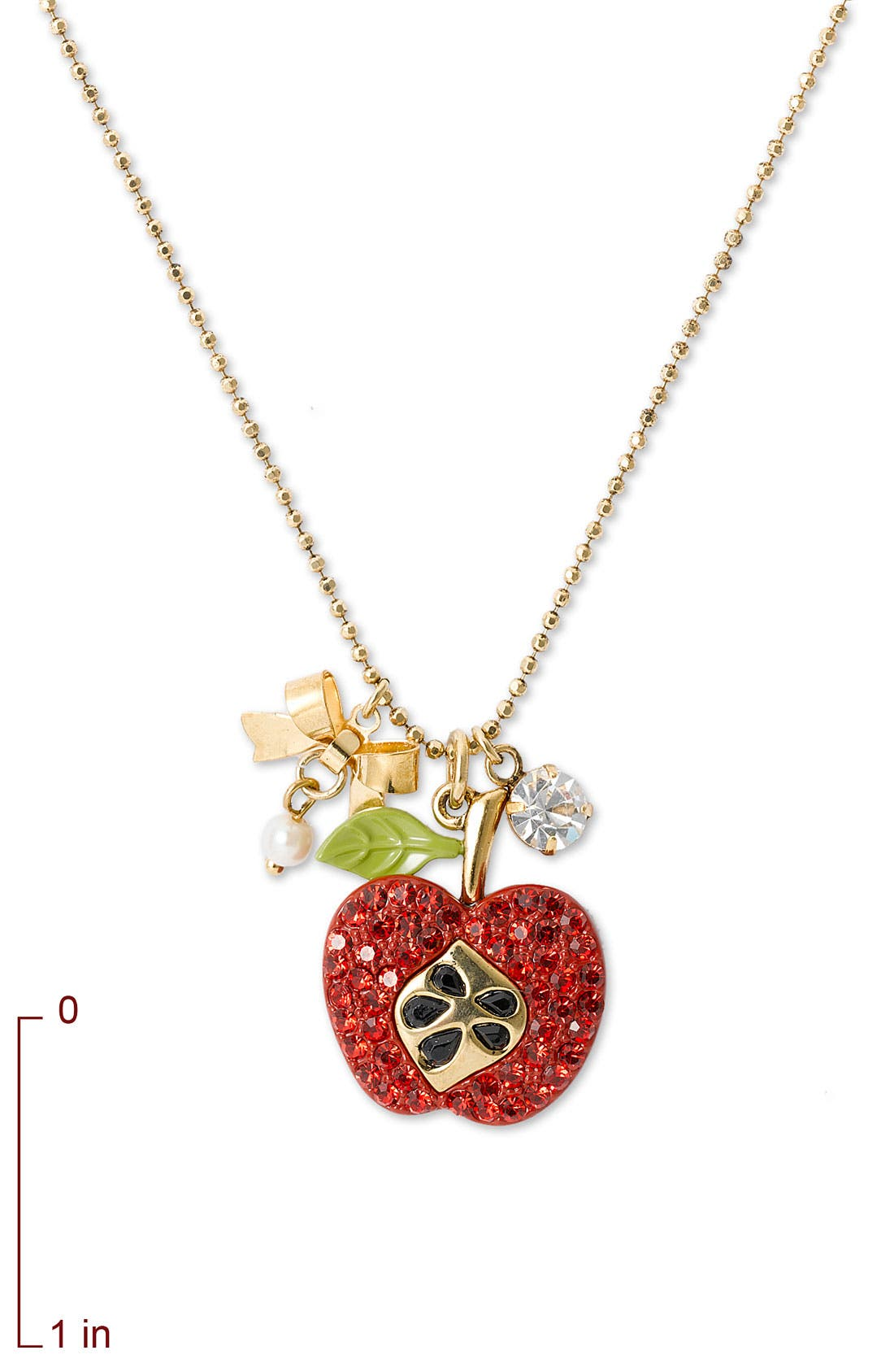 Alternate Image 2  - Betsey Johnson 'Red Apple' Charm Necklace