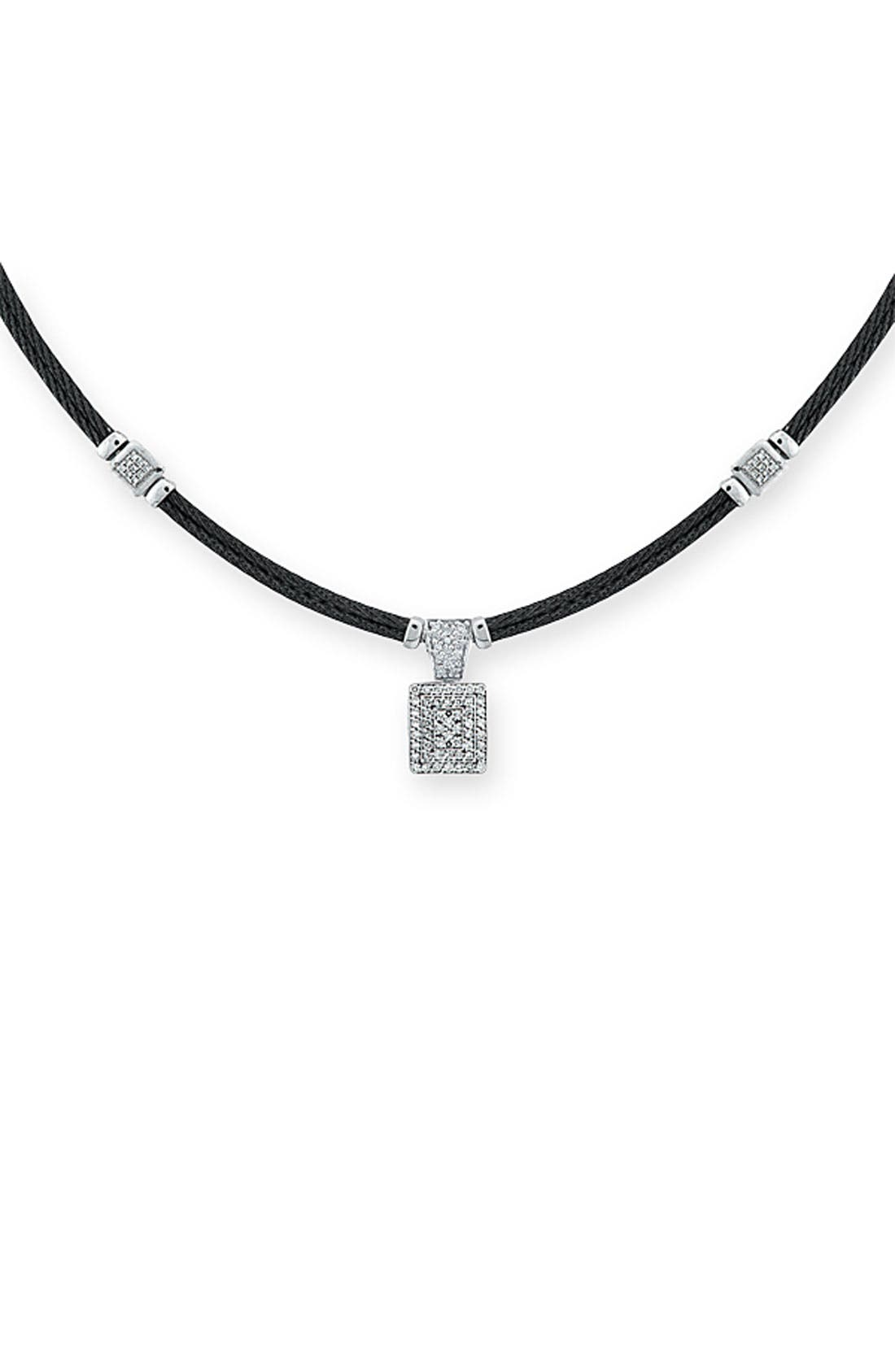 Alternate Image 1 Selected - ALOR® Two Row Diamond Necklace