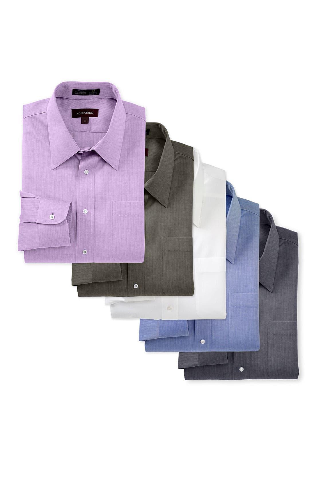 Alternate Image 17  - Nordstrom Men's Shop Smartcare™ Wrinkle Free Traditional Fit Herringbone Dress Shirt