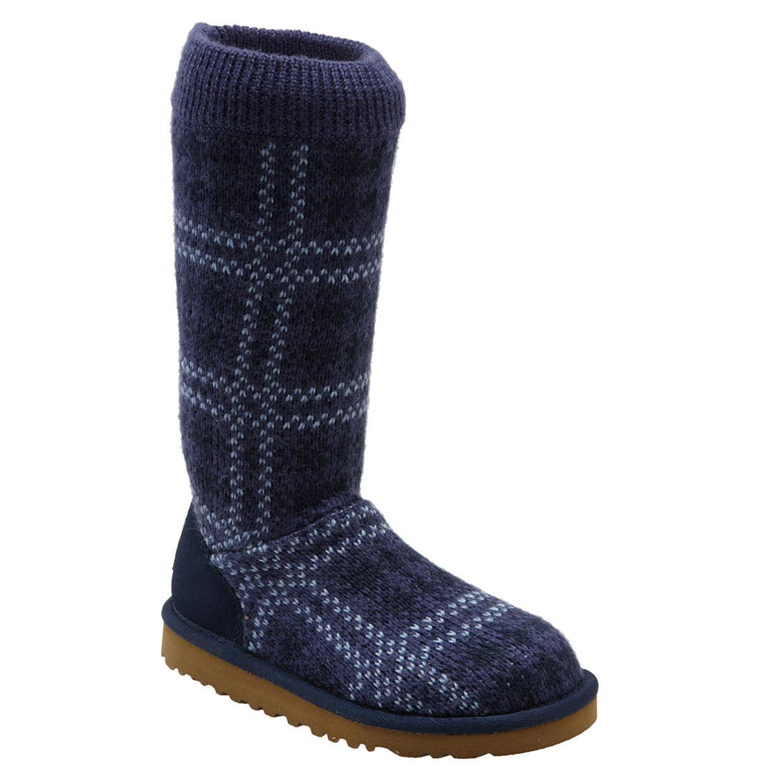 Alternate Image 1 Selected - UGG® Australia Plaid Knit Boot (Toddler, Little Kid & Big Kid)