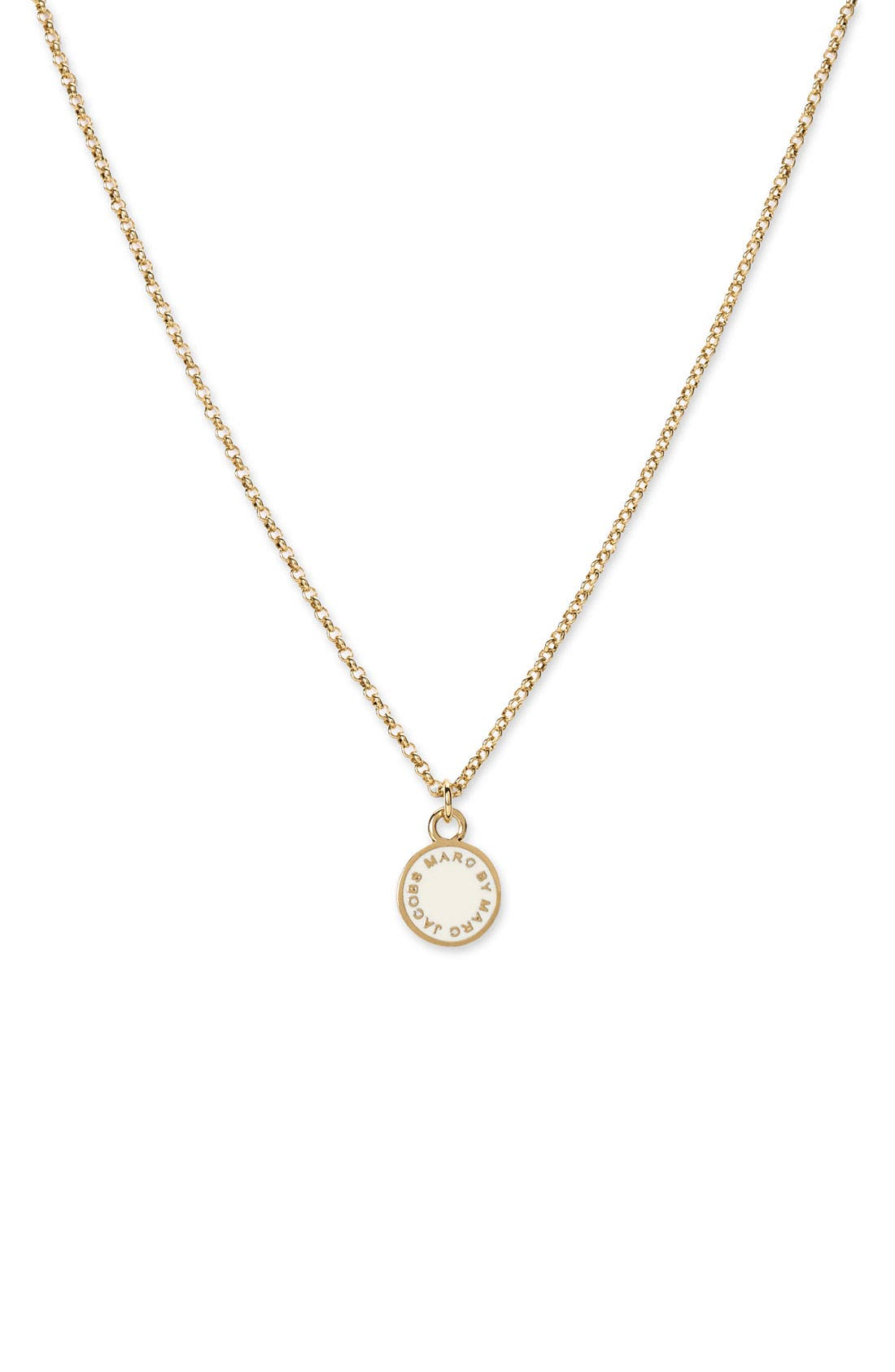 Alternate Image 1 Selected - MARC BY MARC JACOBS Small Disc Pendant Necklace