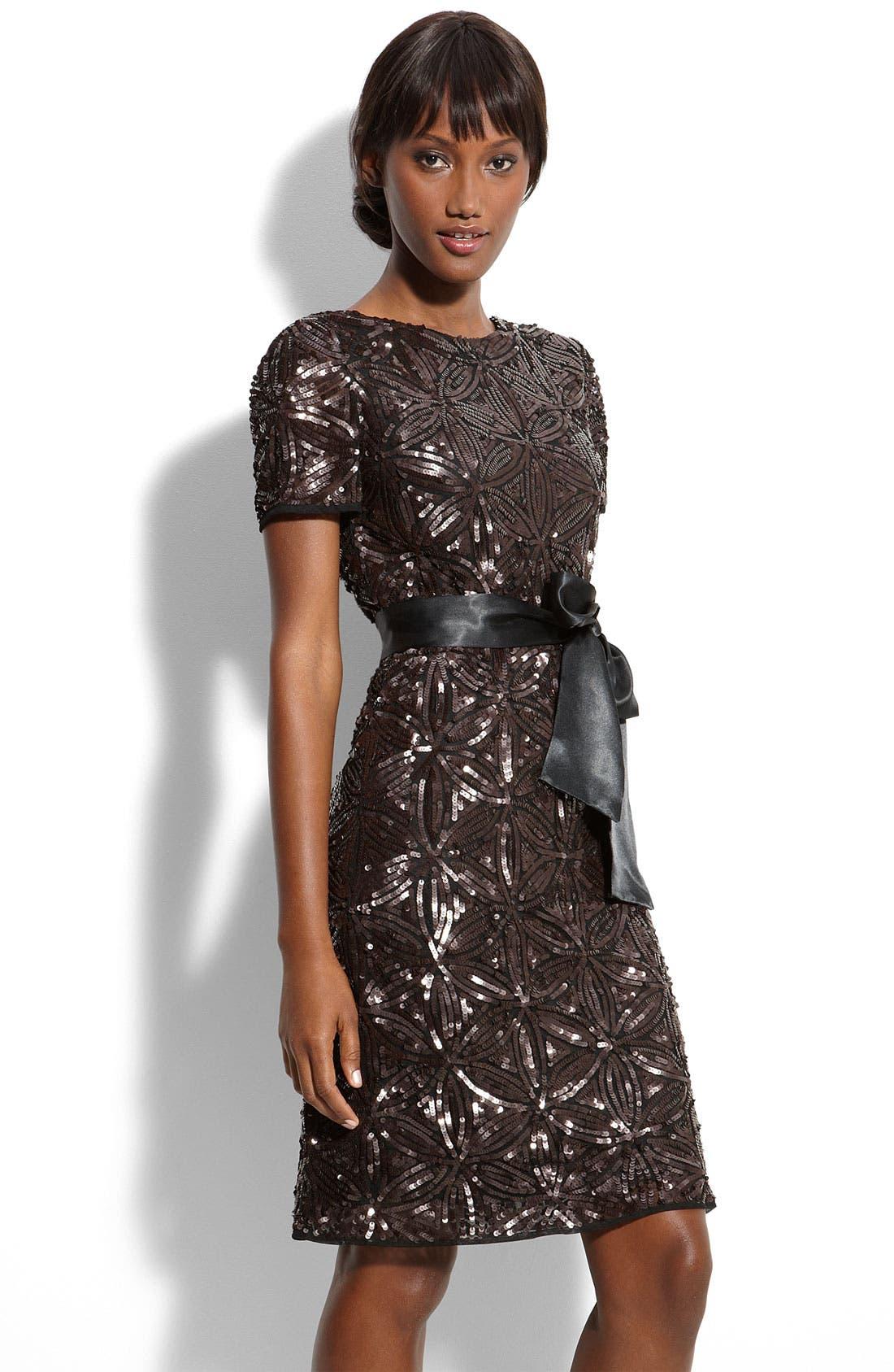 Main Image - Aidan Mattox Sequin Sheath Dress