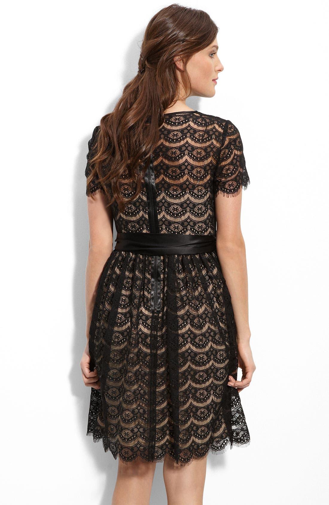 Alternate Image 2  - Donna Morgan Back Zip Lace Dress