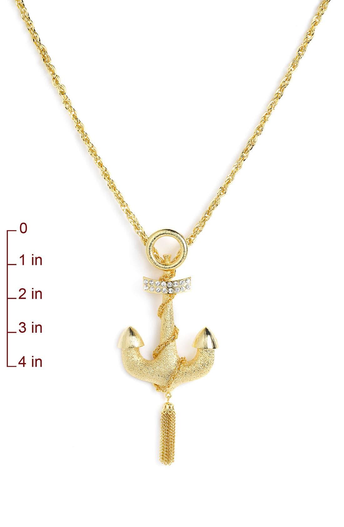 Alternate Image 2  - Spring Street Design Group Anchor Pendant Necklace