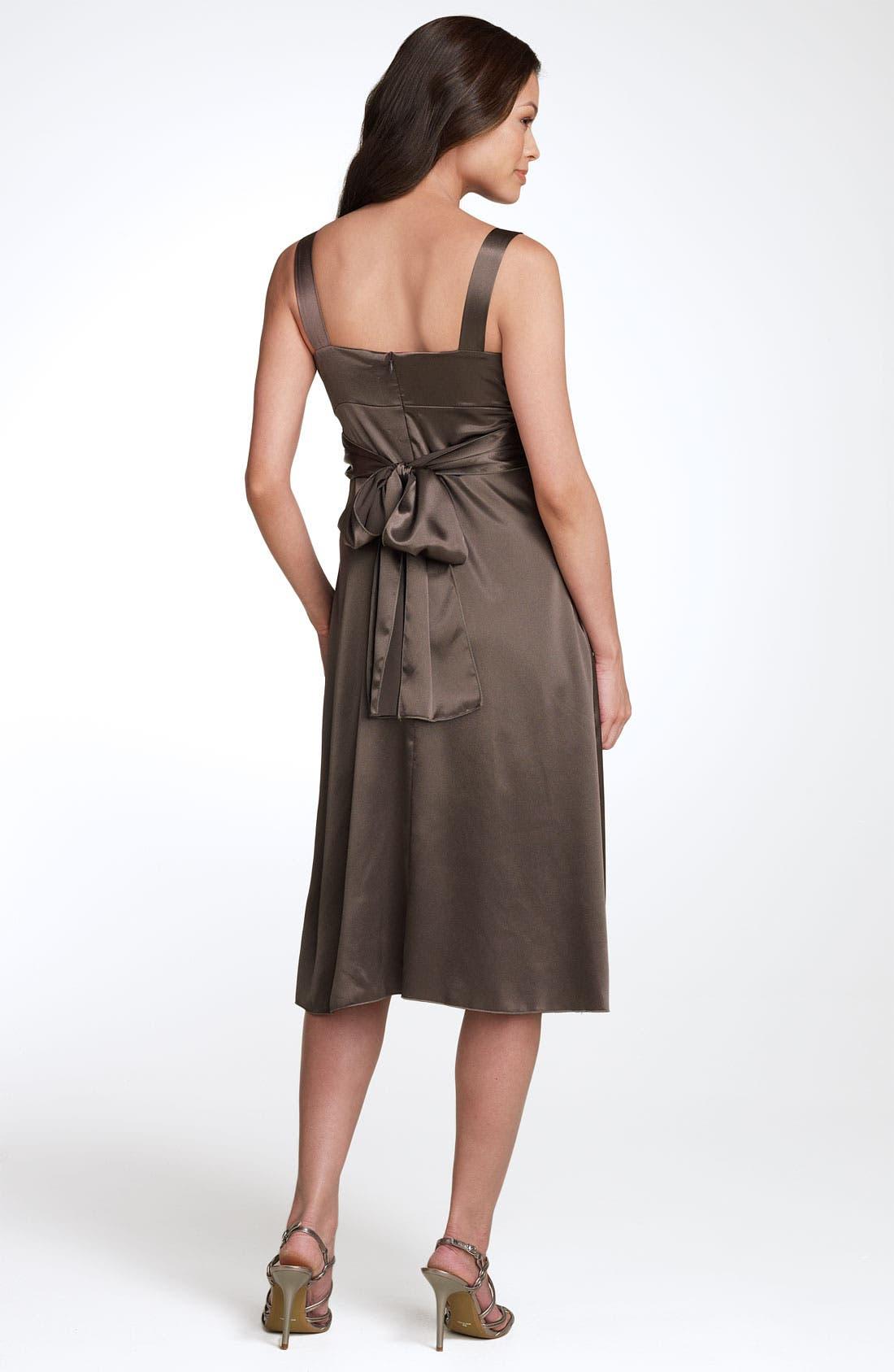 Alternate Image 2  - Ripe Maternity 'Deluxe' Satin Dress