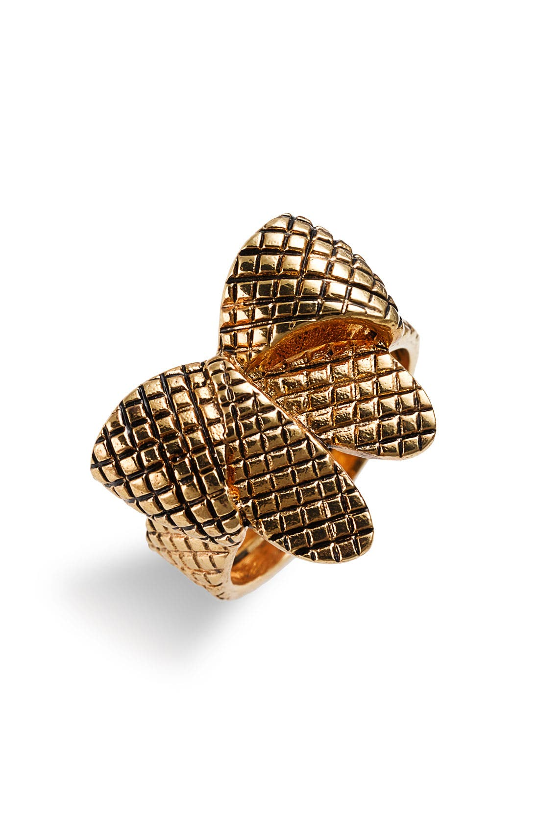 Alternate Image 1 Selected - MARC BY MARC JACOBS Textured Bow Ring