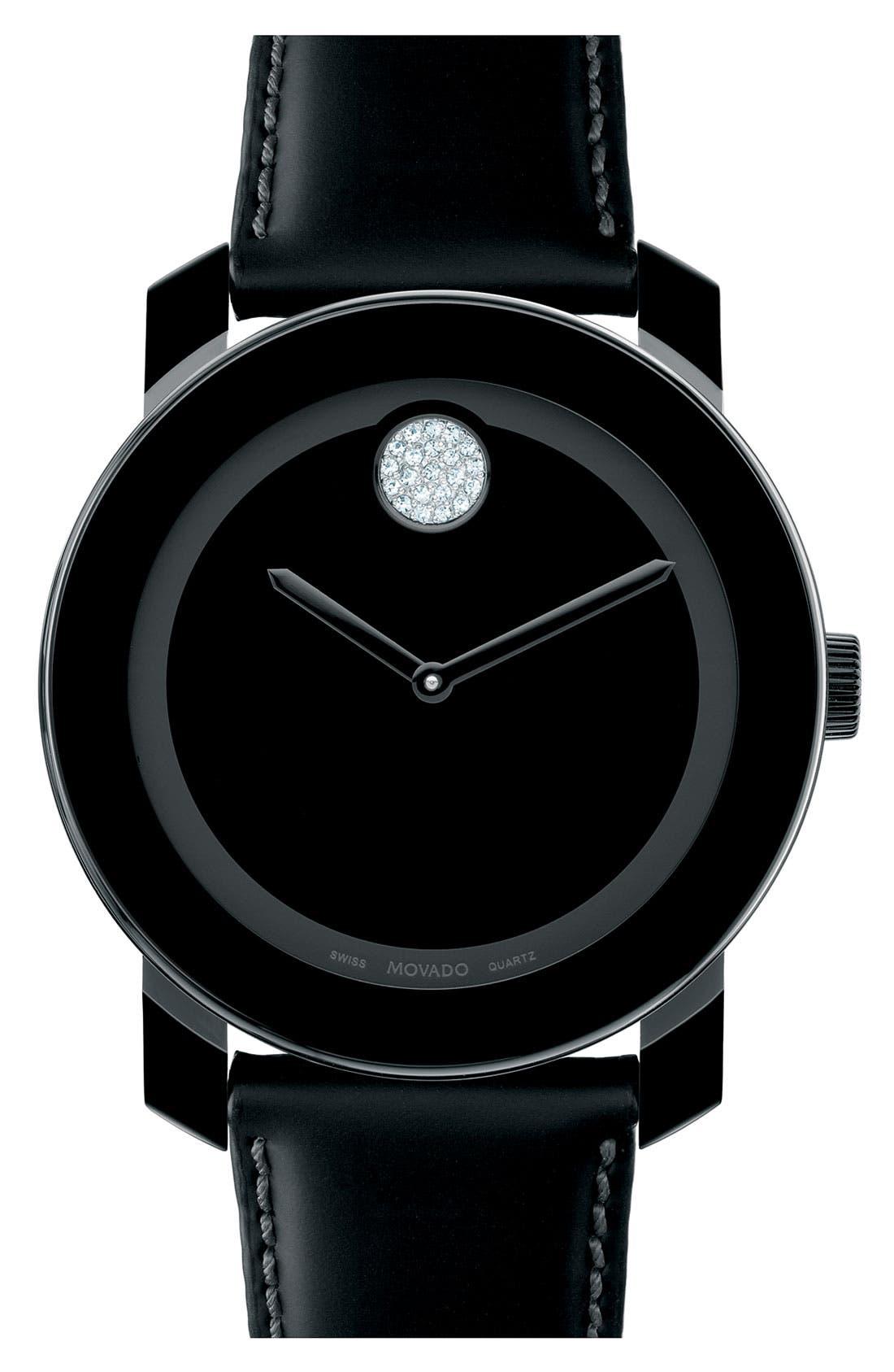 Main Image - Movado 'Large Bold' Swarovski Crystal Marker Watch, 43mm