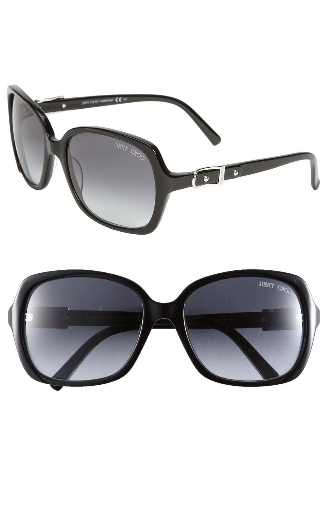 Alternate Image 1 Selected - Jimmy Choo 'Lela' Oversized Square Sunglasses