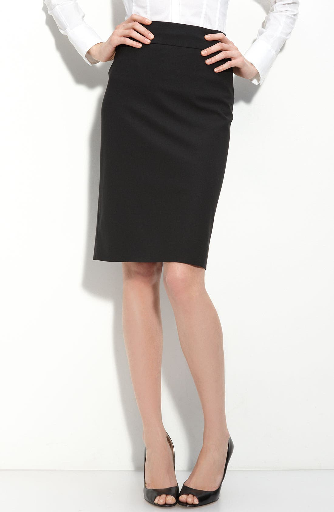 Alternate Image 1 Selected - BOSS 'Veronice' Tropical Wool Skirt