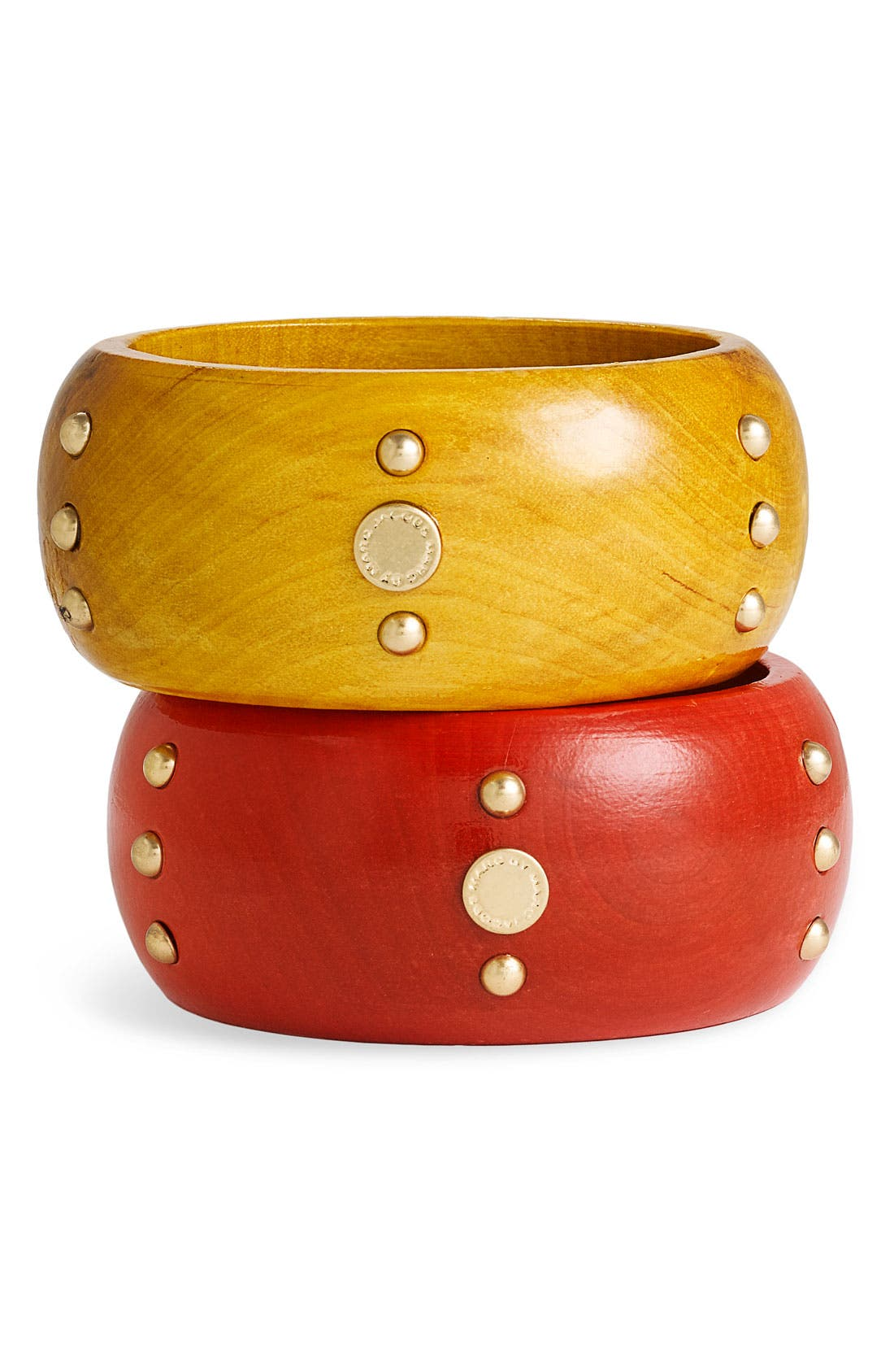 Alternate Image 1 Selected - MARC BY MARC JACOBS 'High Tide' Studded Wood Bangle