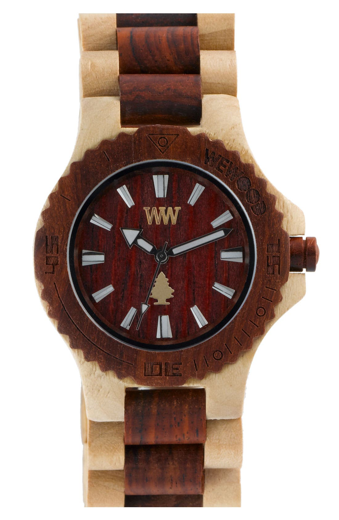 Alternate Image 1 Selected - WEWOOD 'Date' Wood Watch