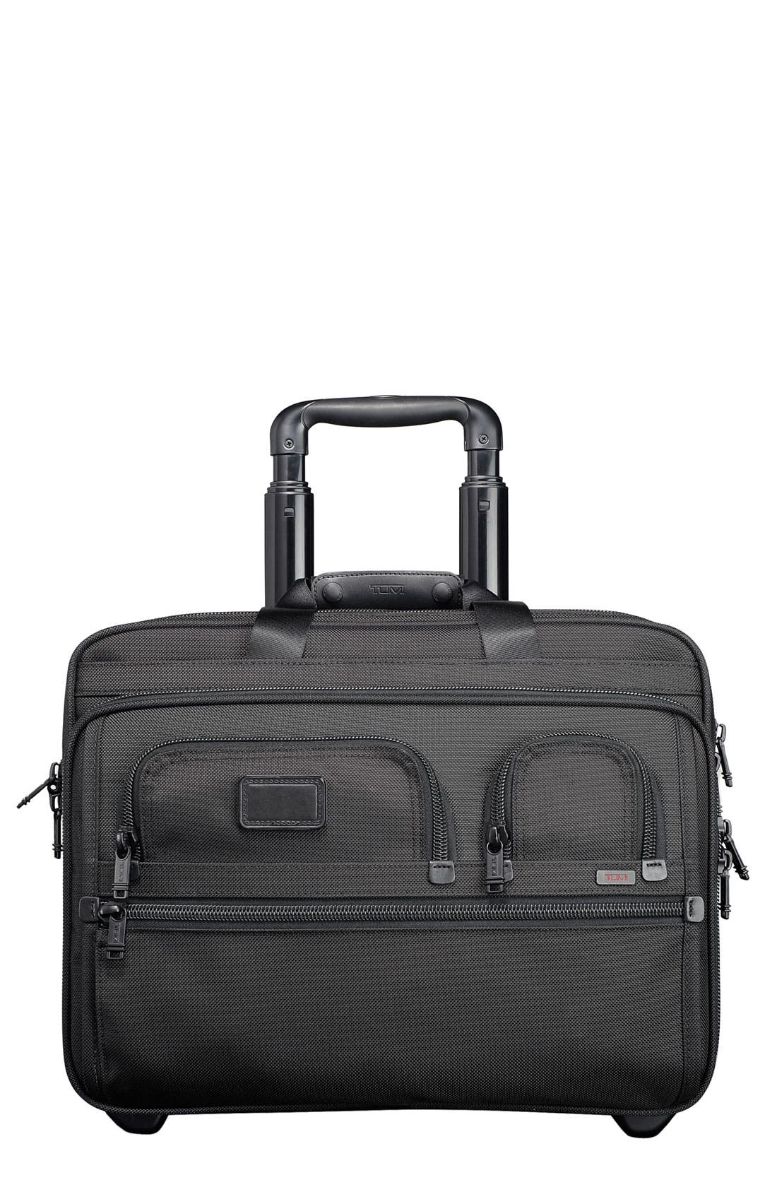 Main Image - Tumi 'Alpha' Deluxe Wheeled Briefcase with Laptop Case