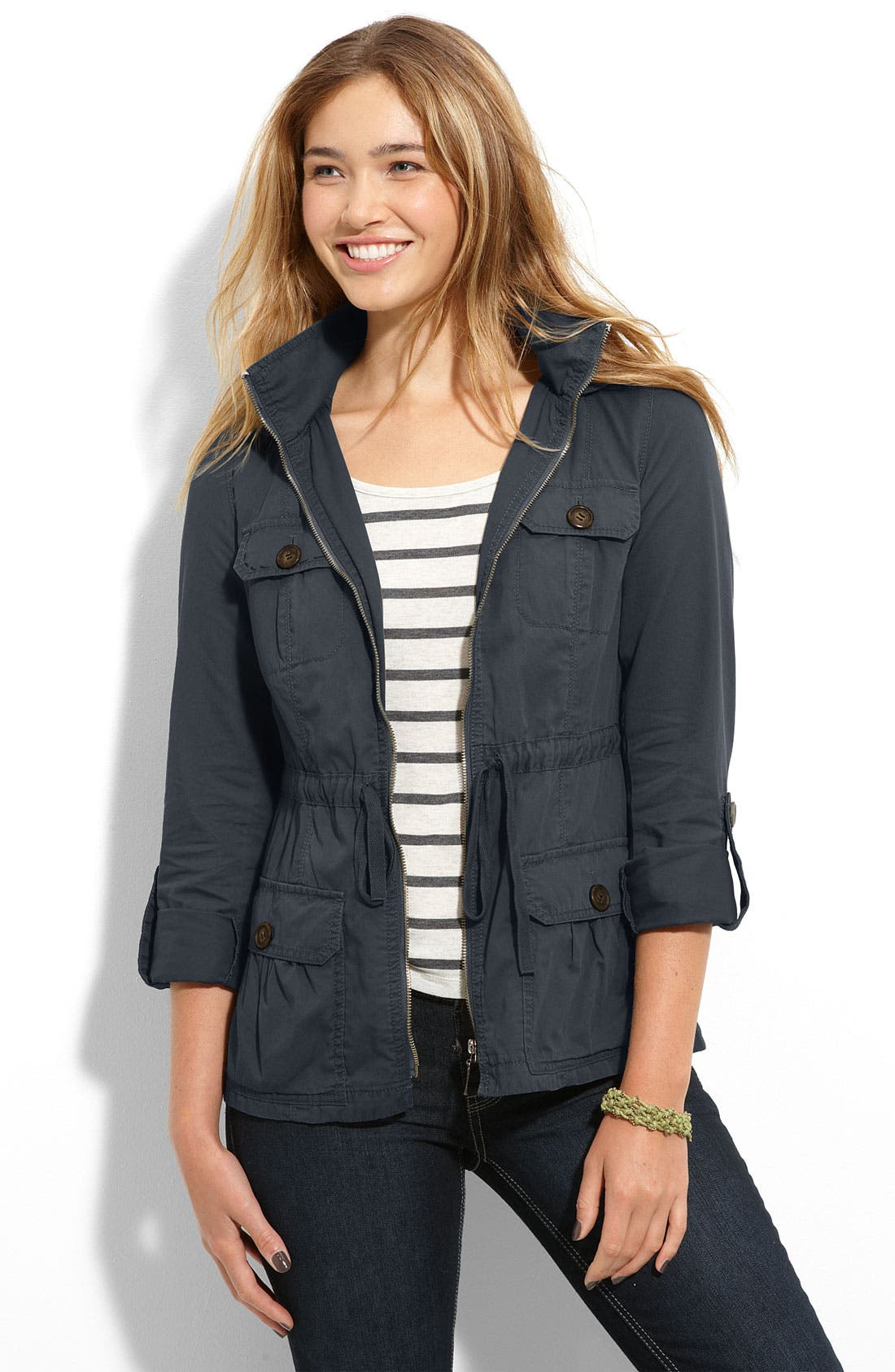 Alternate Image 1 Selected - Rubbish Drawstring Parka (Juniors)
