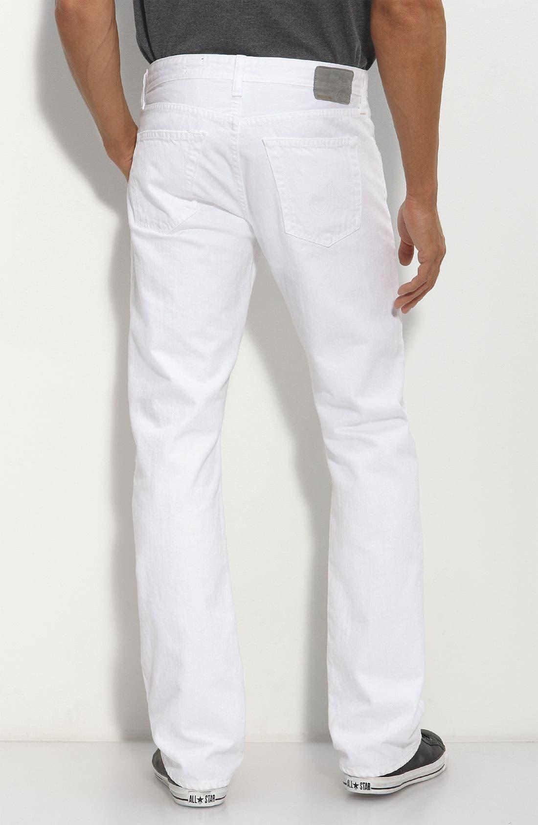 Alternate Image 2  - AG Jeans 'Protégé' Straight Leg Jeans (White Wash)