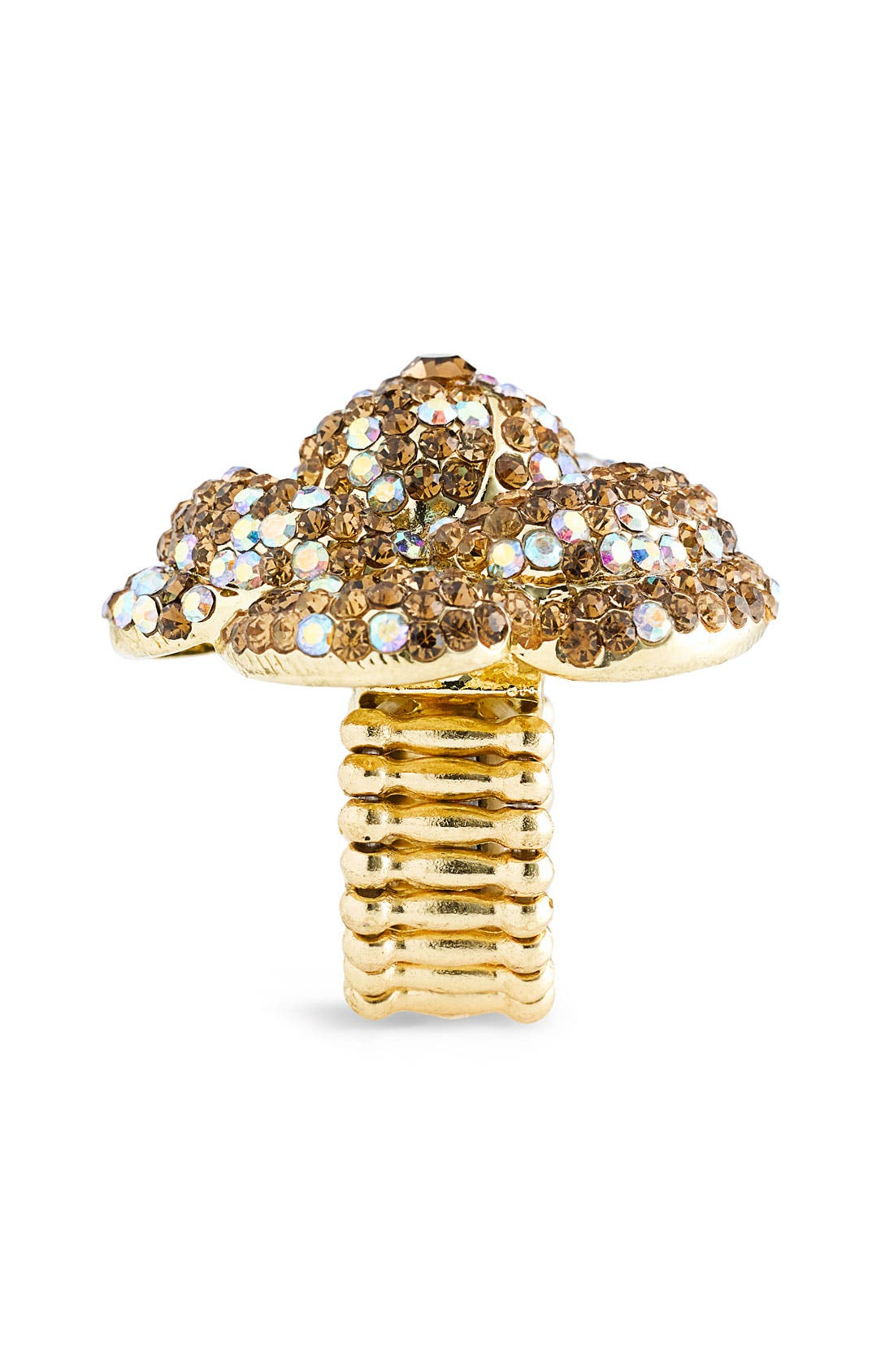 Alternate Image 2  - Cara Accessories 'Critters' Blowfish Crystal Stretch Ring