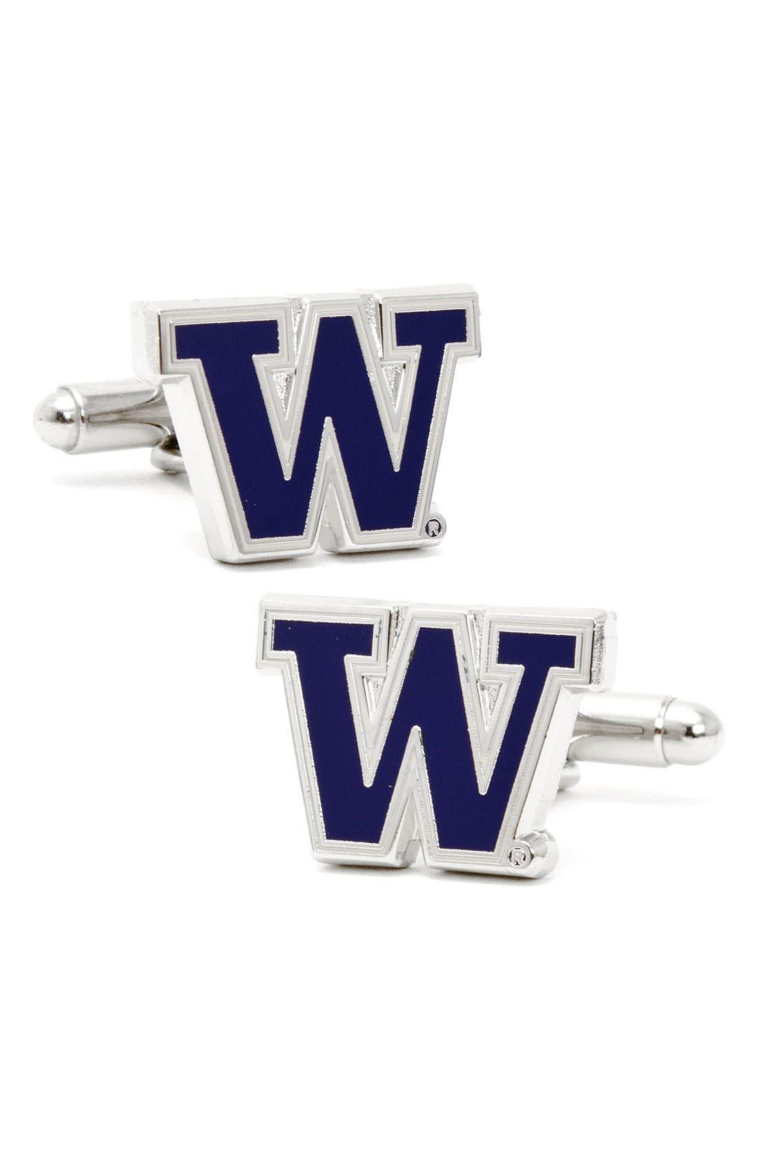 Main Image - Cufflinks, Inc. 'University of Washington Huskies' Cuff Links
