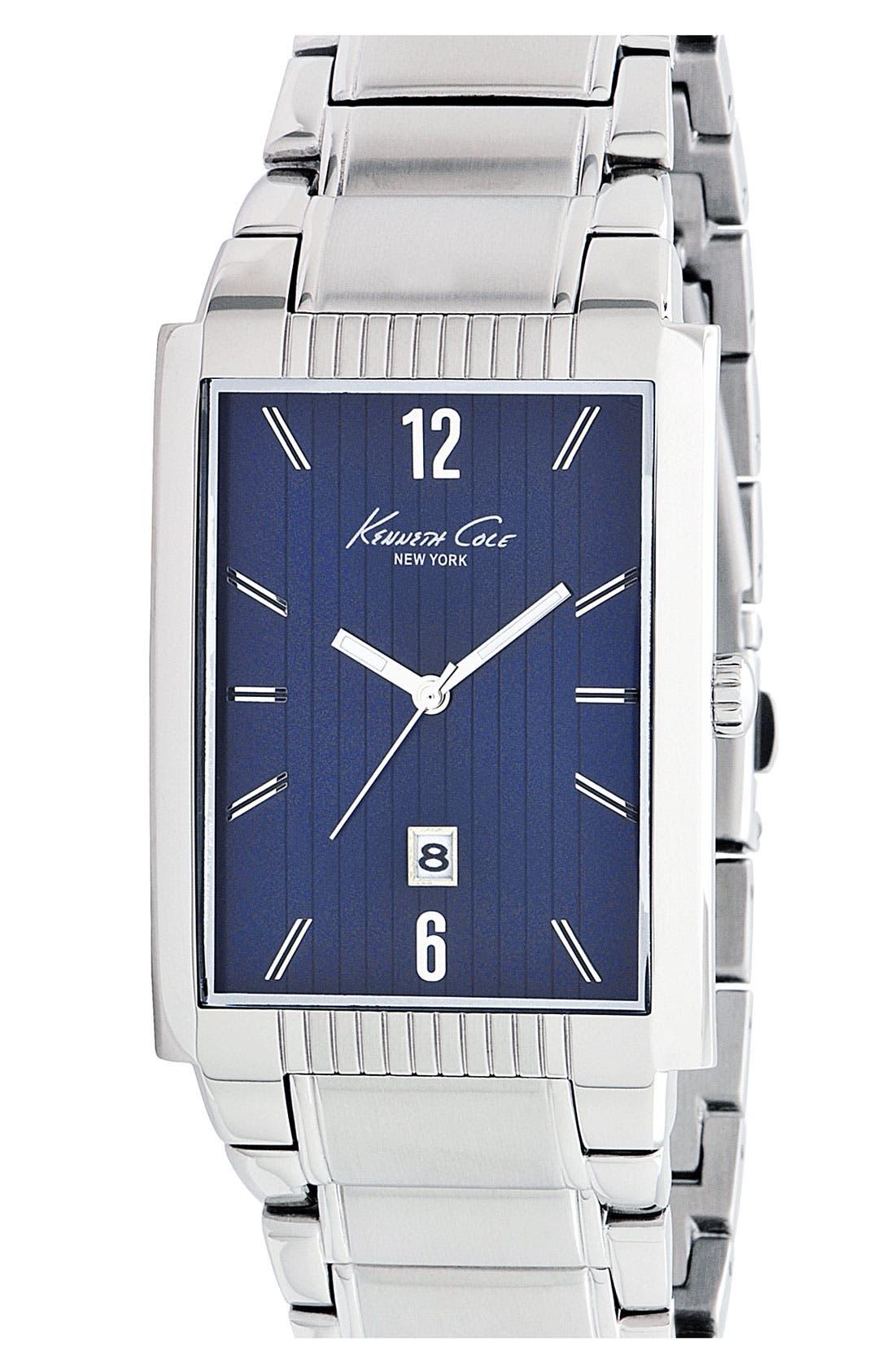 Alternate Image 1 Selected - Kenneth Cole New York Rectangular Bracelet Watch