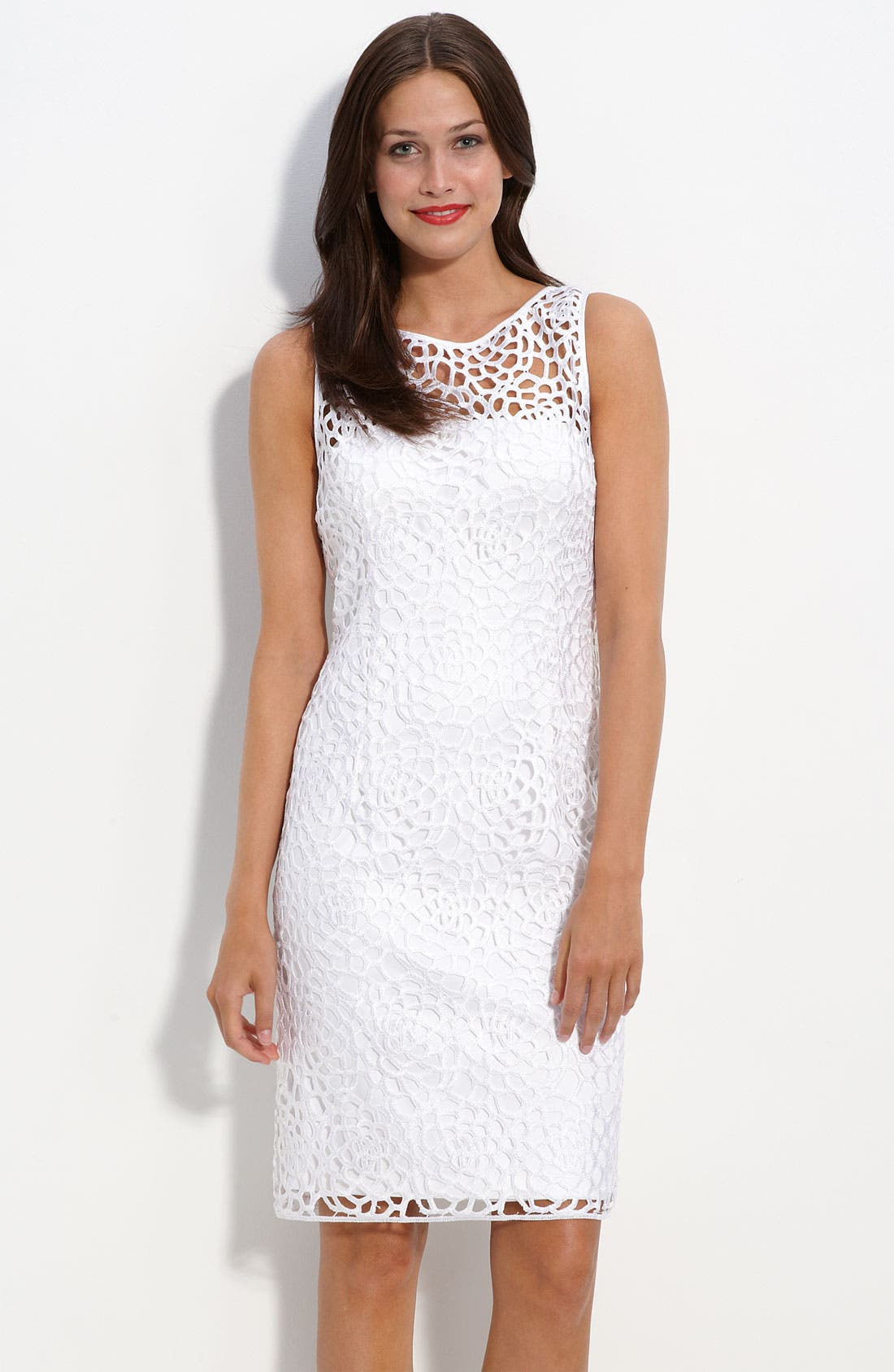 Main Image - Adrianna Papell Lace Sheath Dress