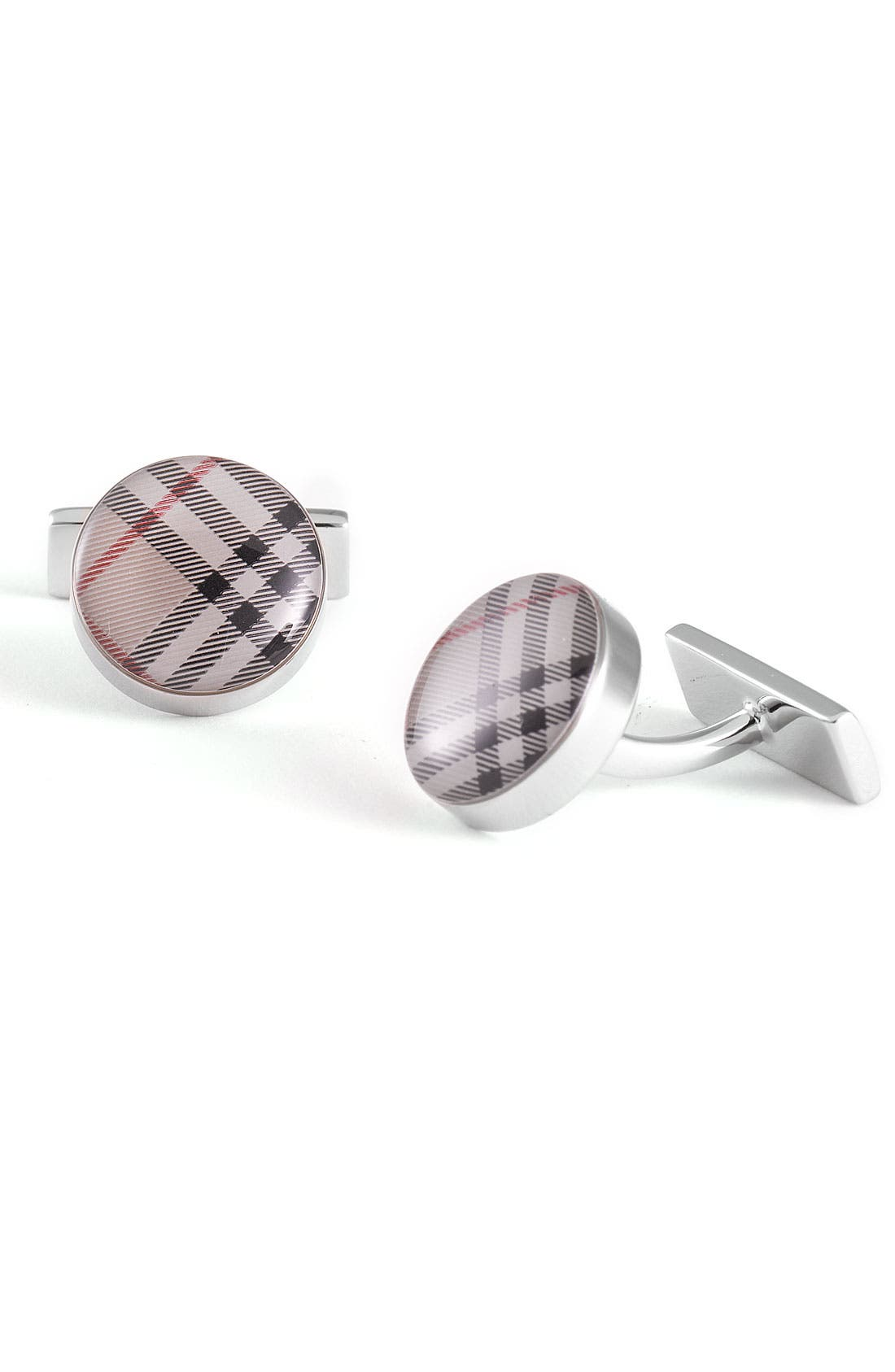 Main Image - Burberry Check Enamel Cuff Links