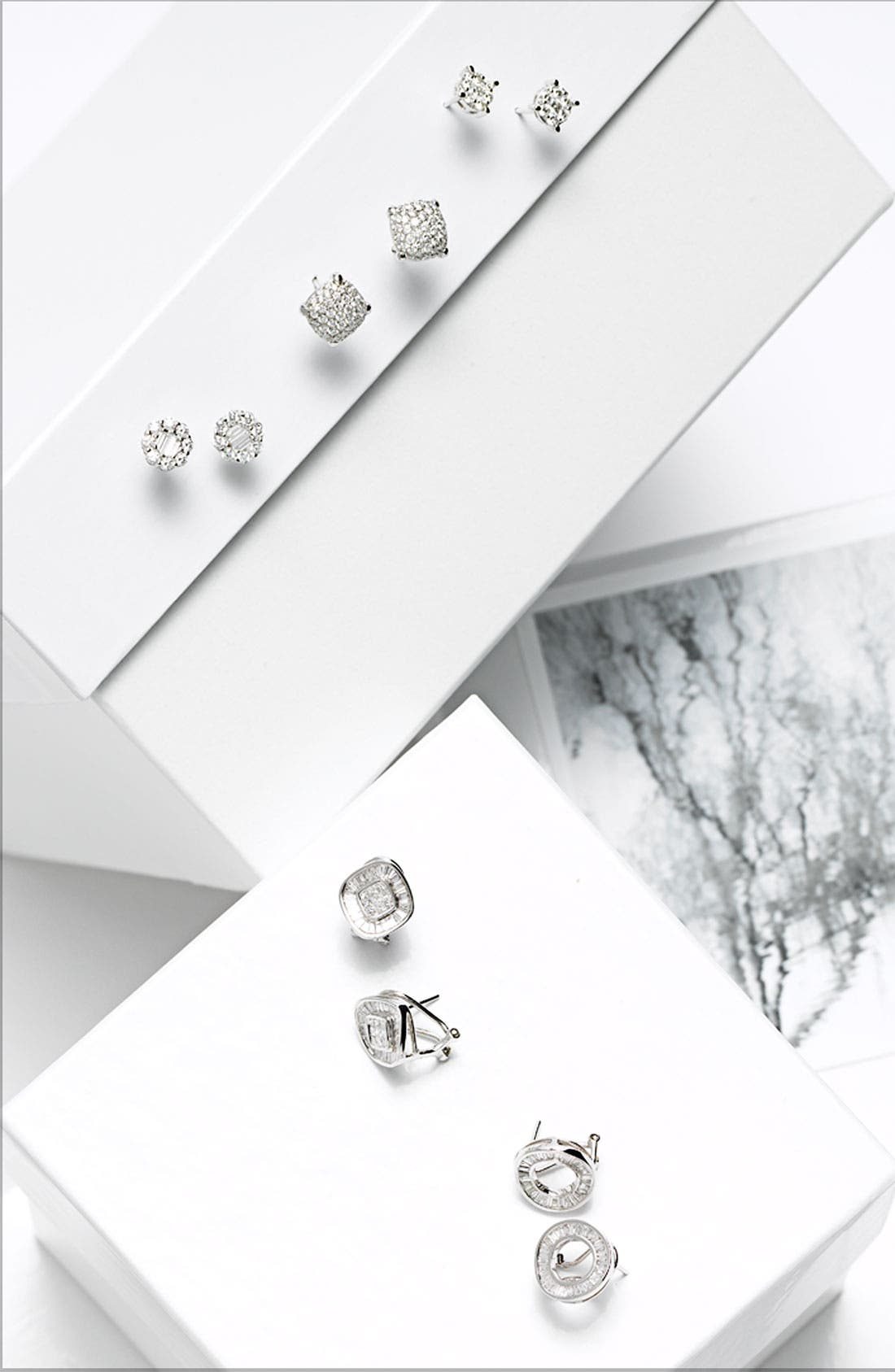 Alternate Image 3  - Bony Levy Diamond Stud Earrings (Nordstrom Exclusive)