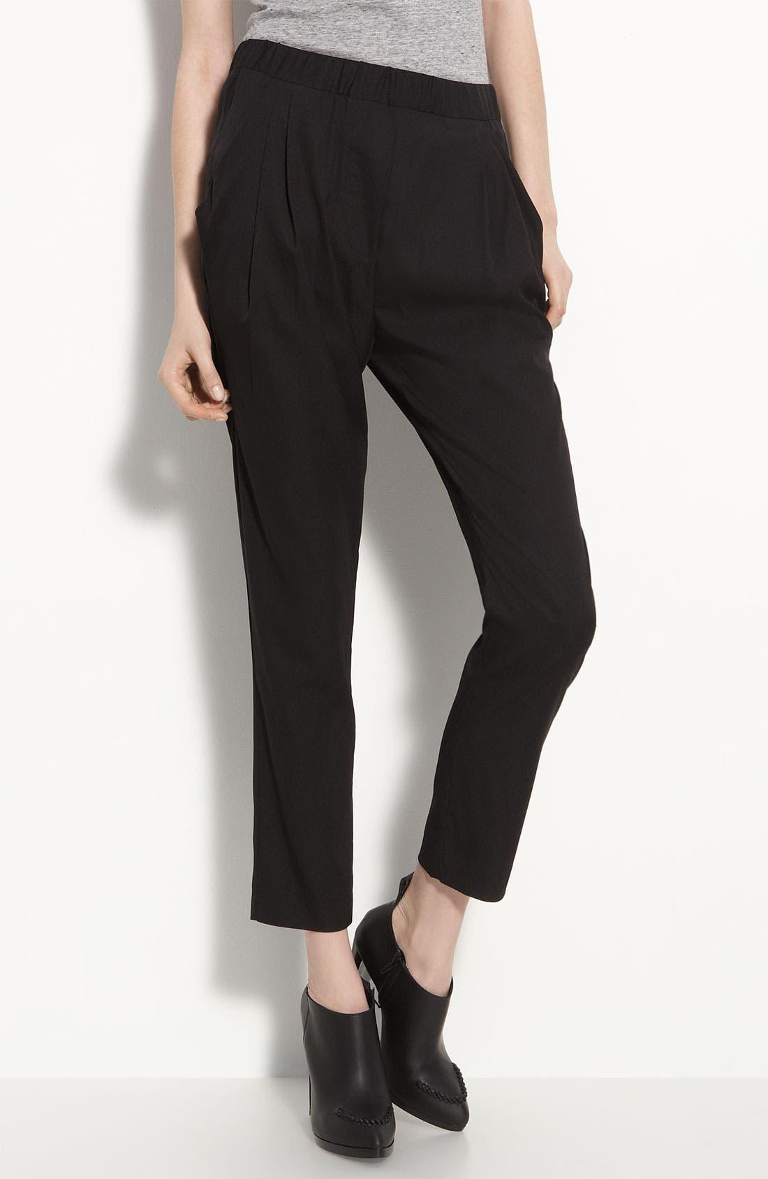 Alternate Image 1 Selected - 3.1 Phillip Lim Drape Pocket Silk Trousers